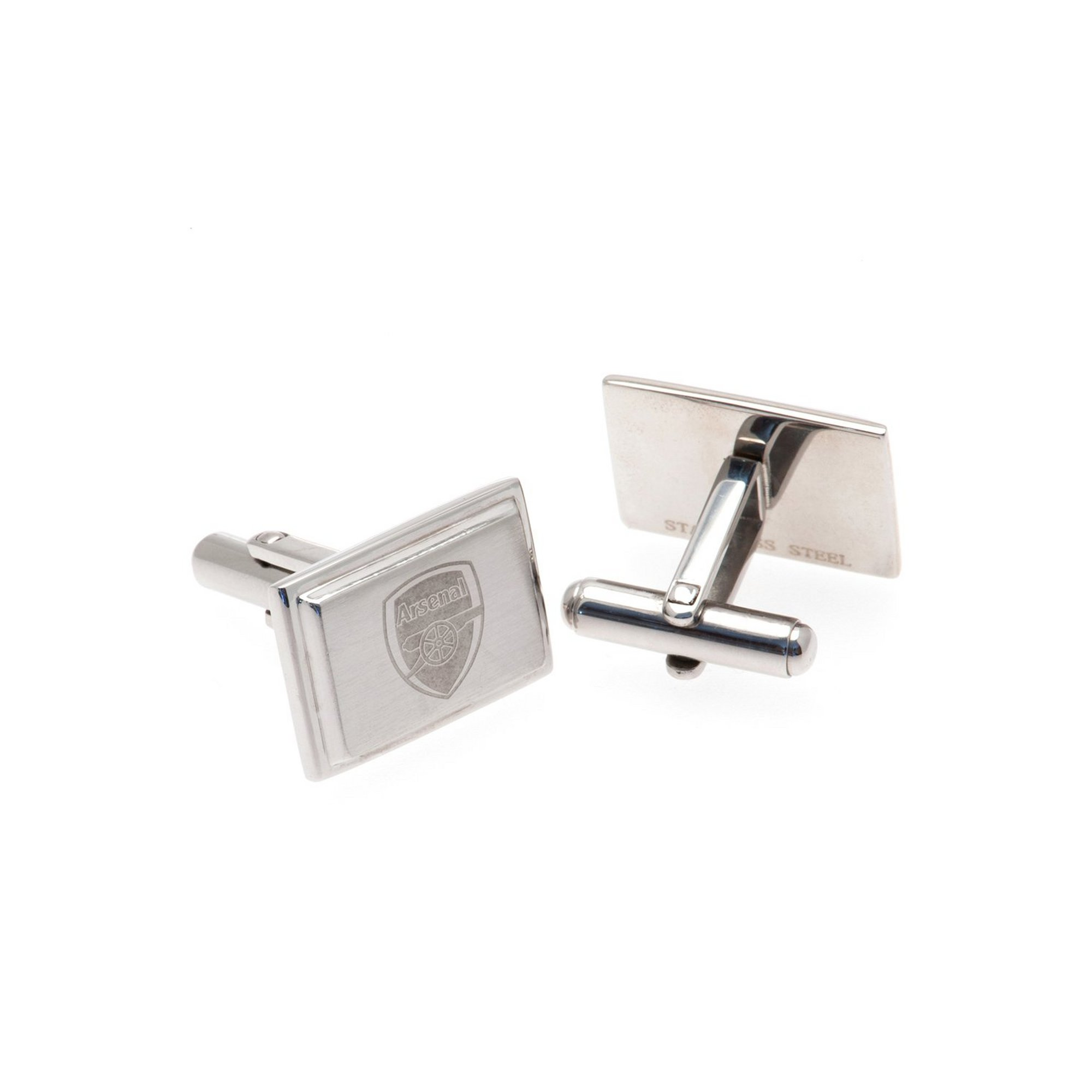 Image of Arsenal Stainless Steel Crest Cufflinks