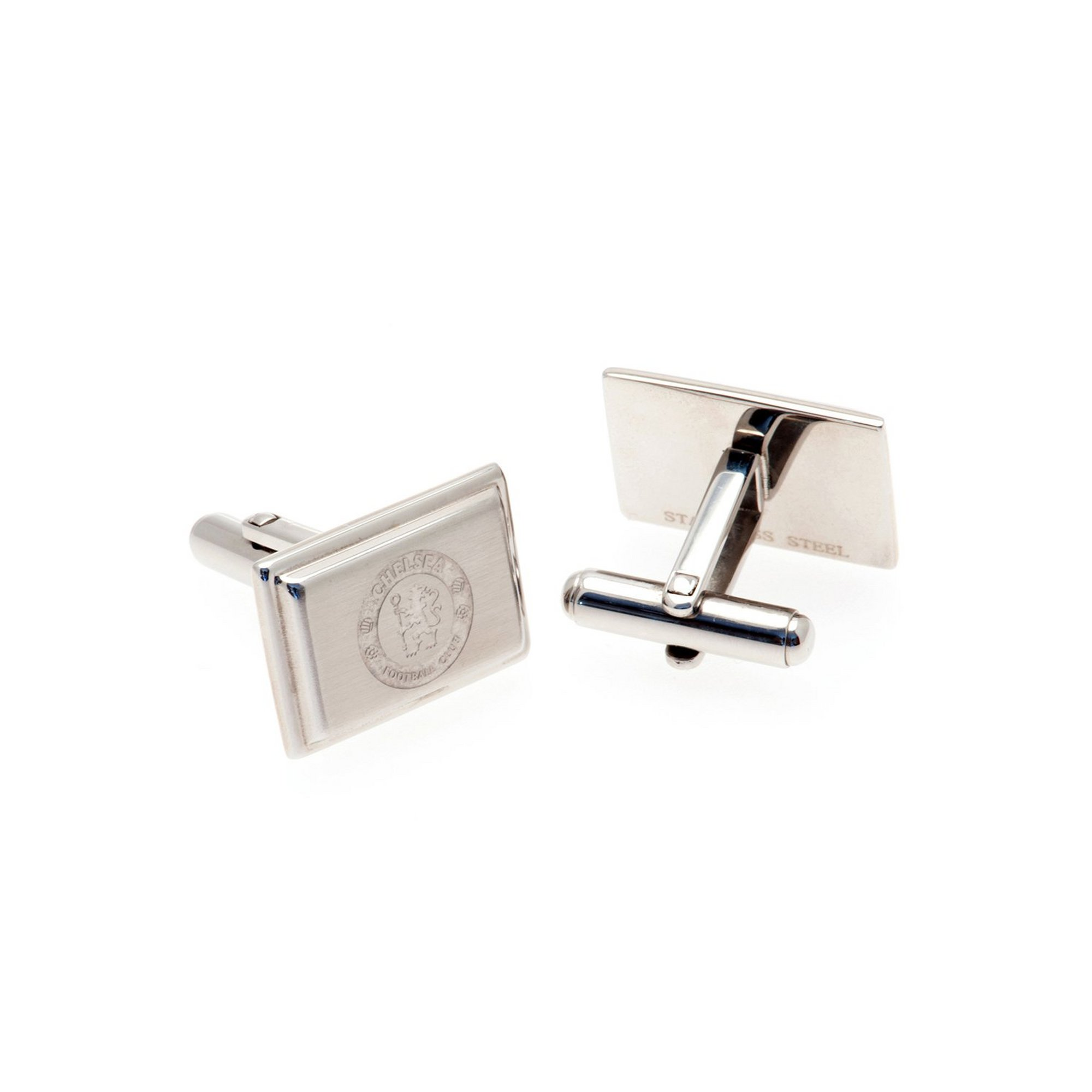 Image of Chelsea FC Stainless Steel Crest Cufflinks