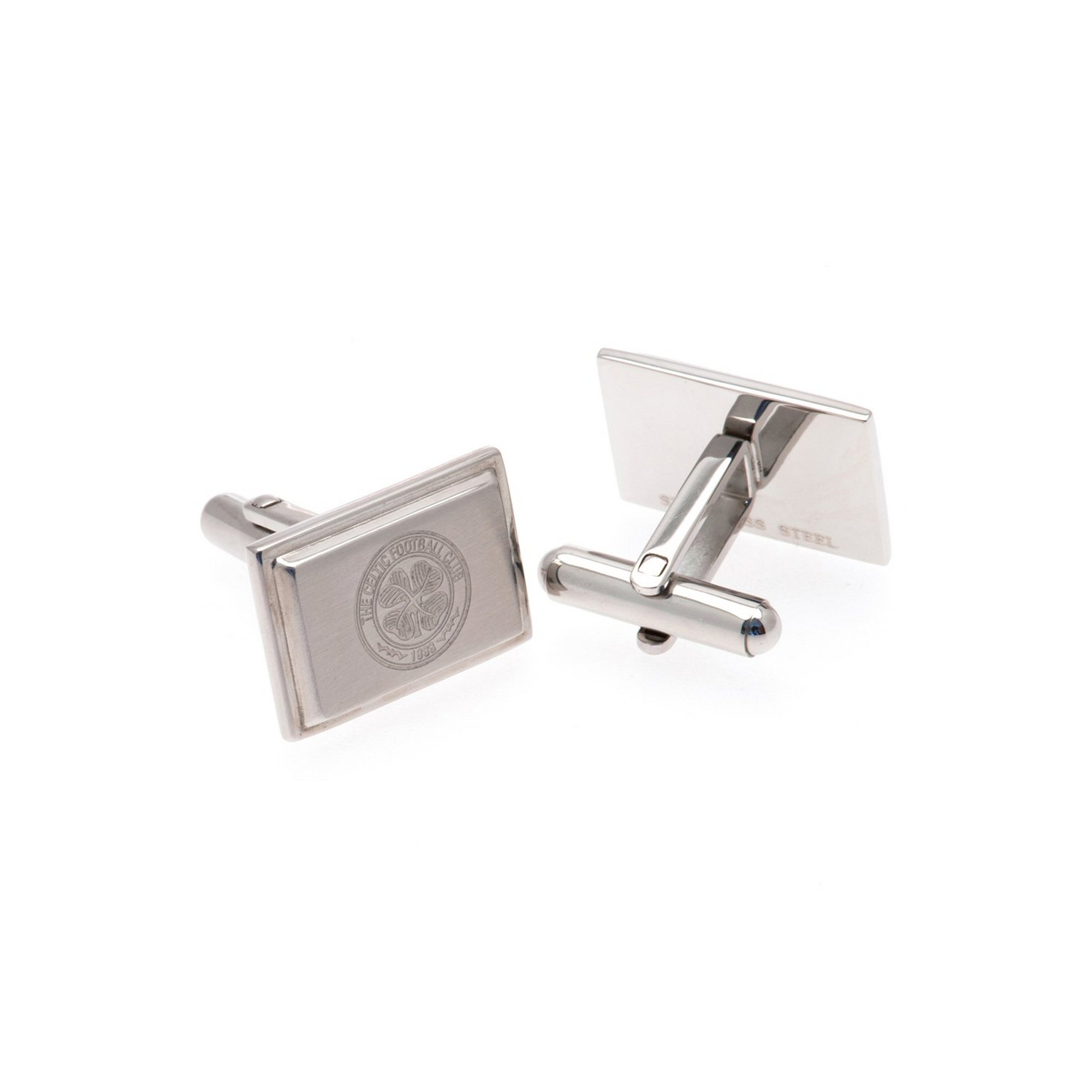 Image of Celtic FC Stainless Steel Crest Cufflinks