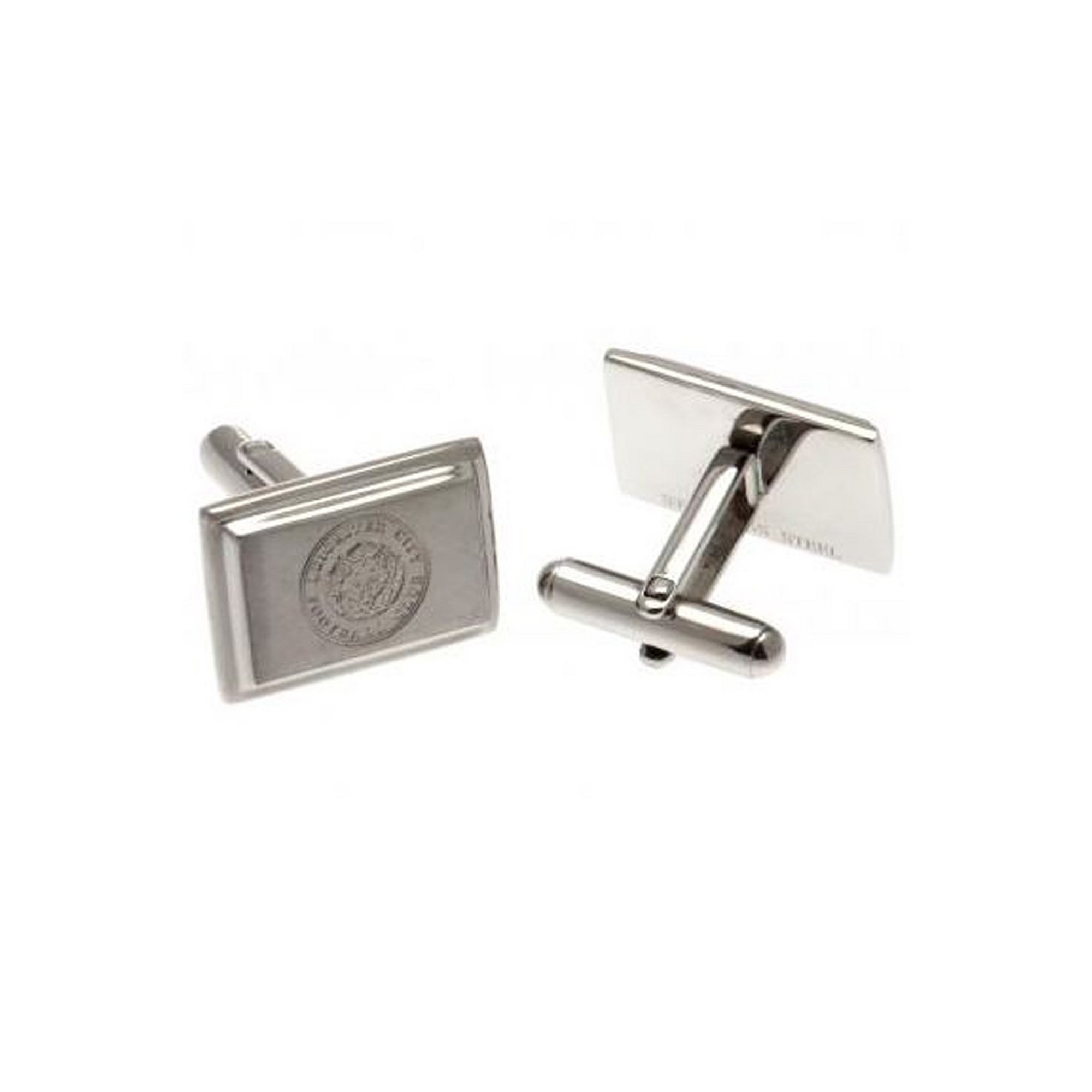 Image of Leicester City Stainless Steel Crest Cufflinks