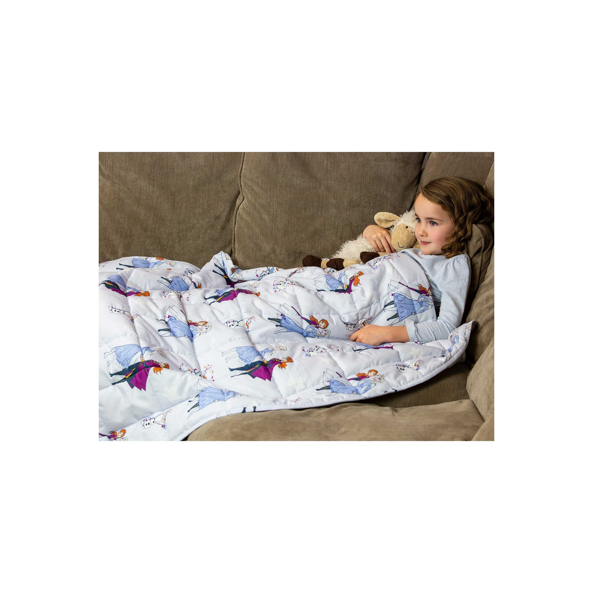Image of Frozen 2 Friends Weighted Blanket
