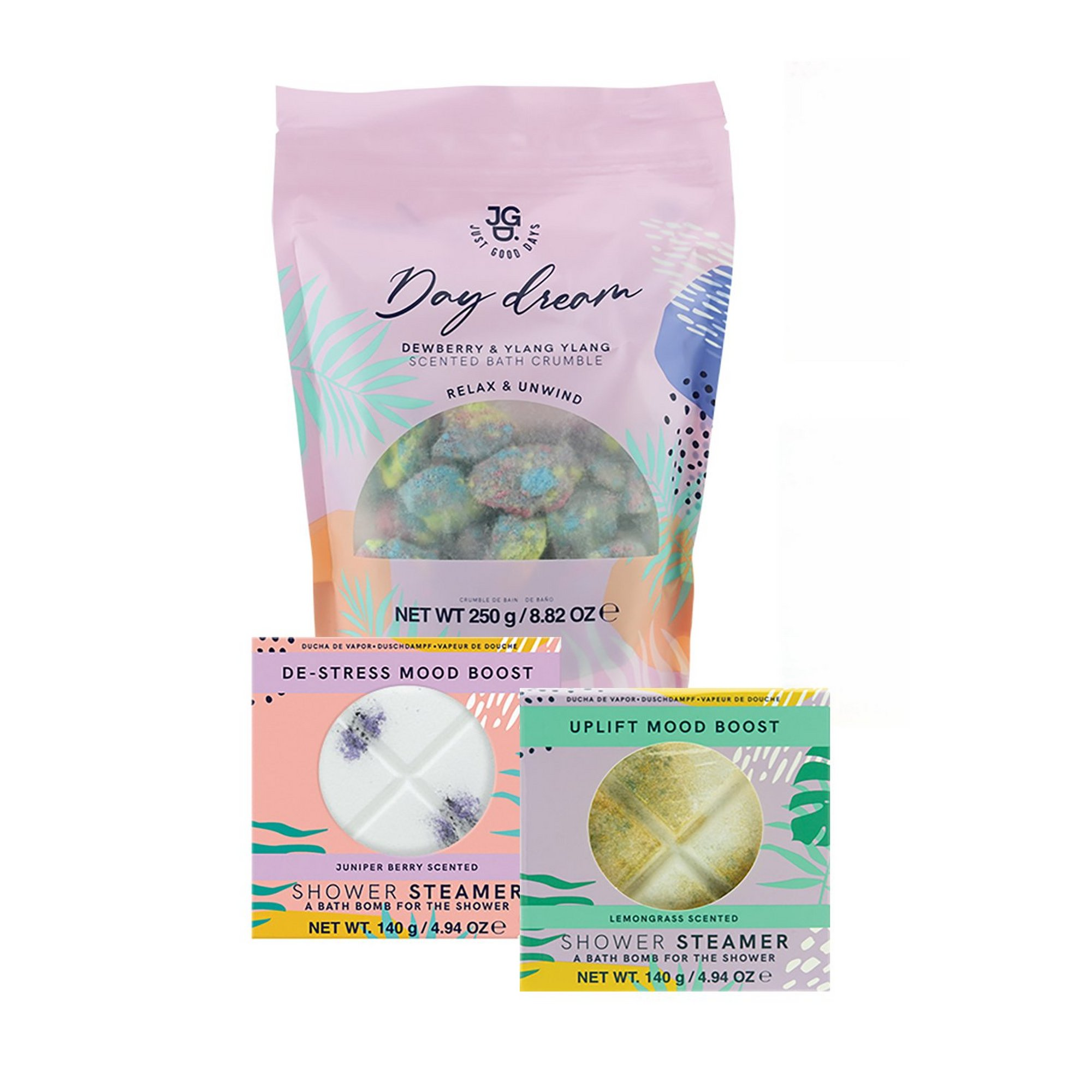 Image of Just Good Days Bath Crumble and Shower Steamer Bundle