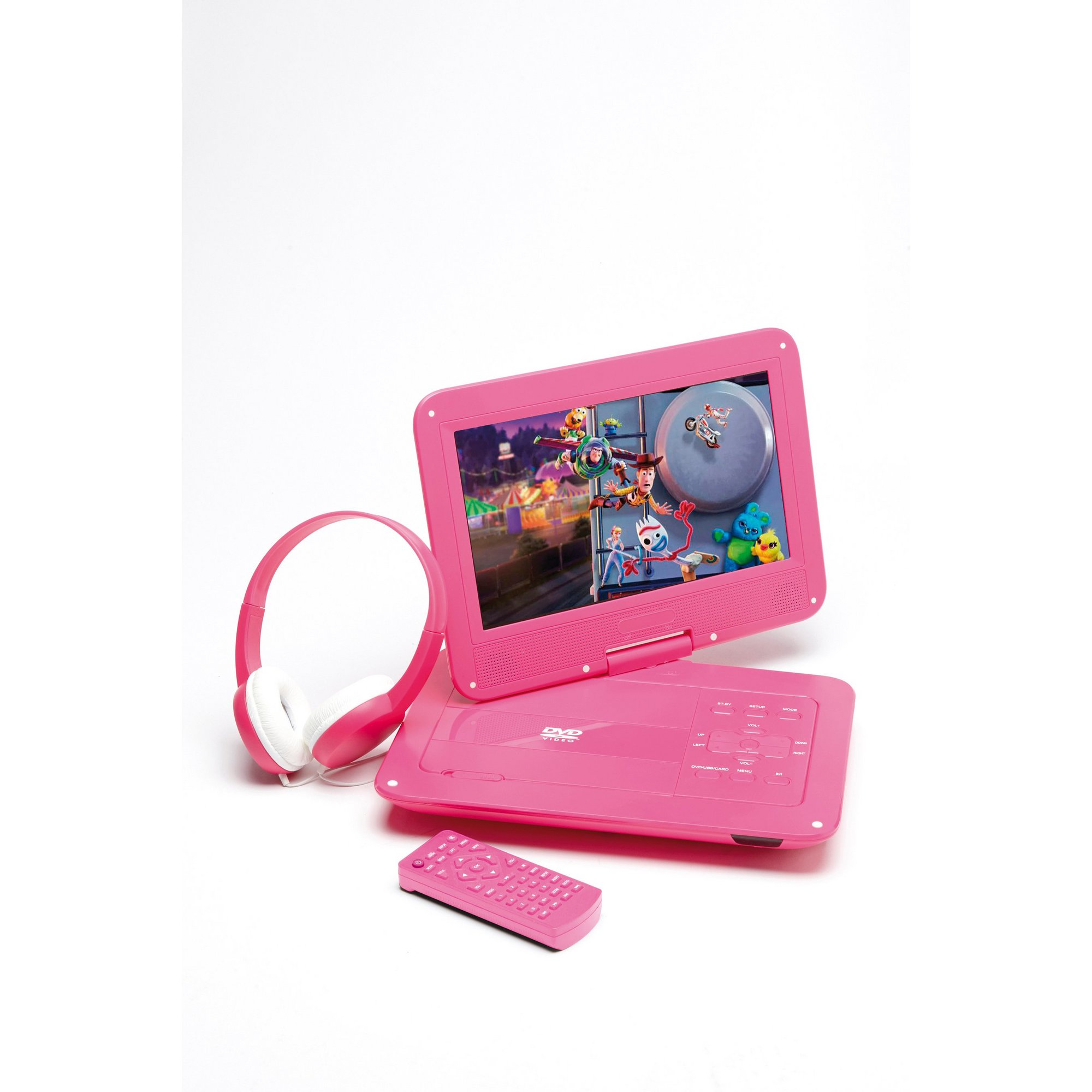 Image of 10.1 Inch Portable DVD and Headphones Set