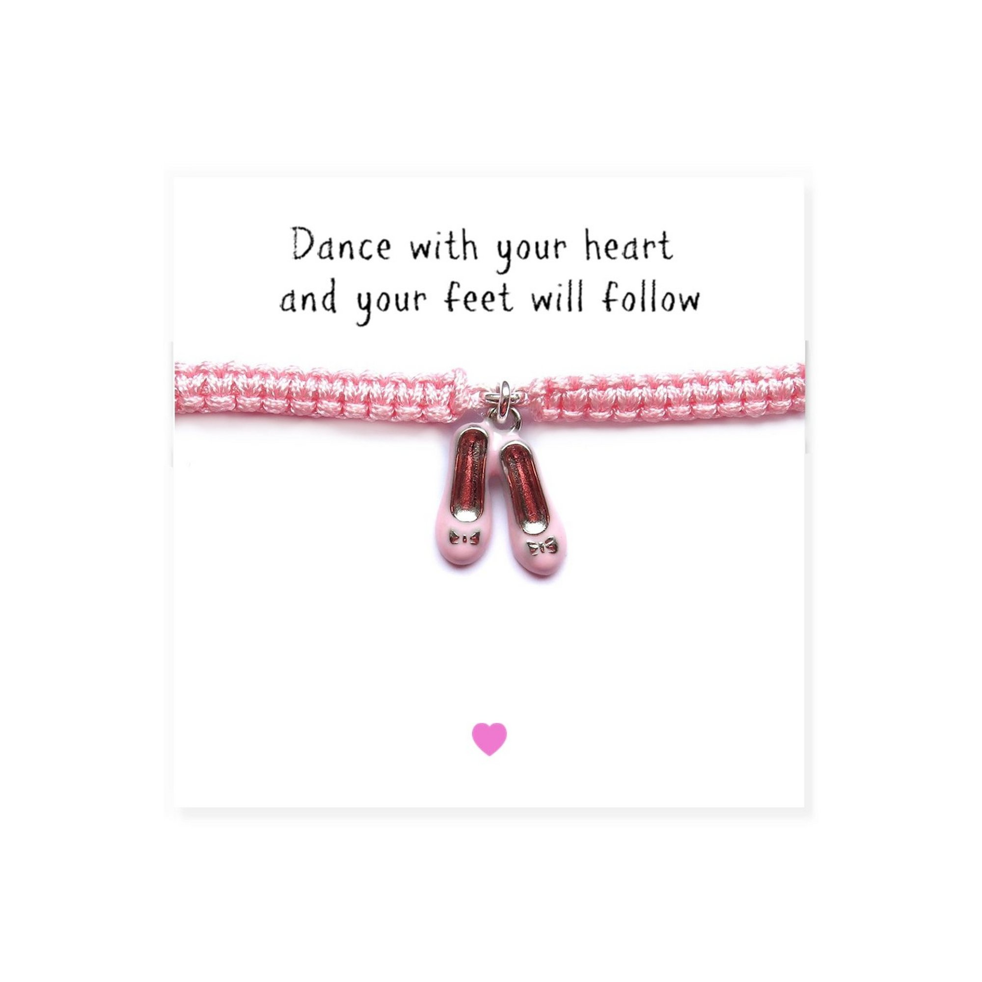 Image of Ballet Shoes Friendship Bracelet and Message Card