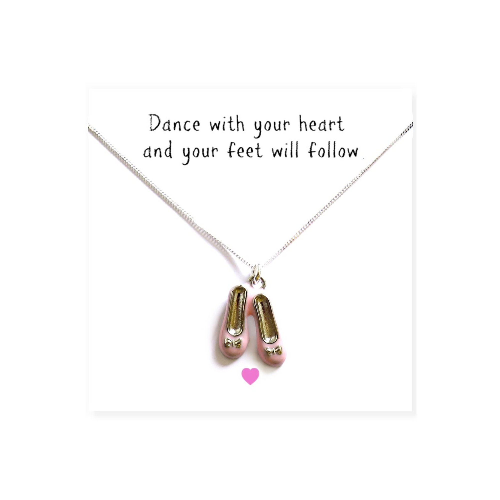 Image of Ballet Shoes Necklace and Message Card