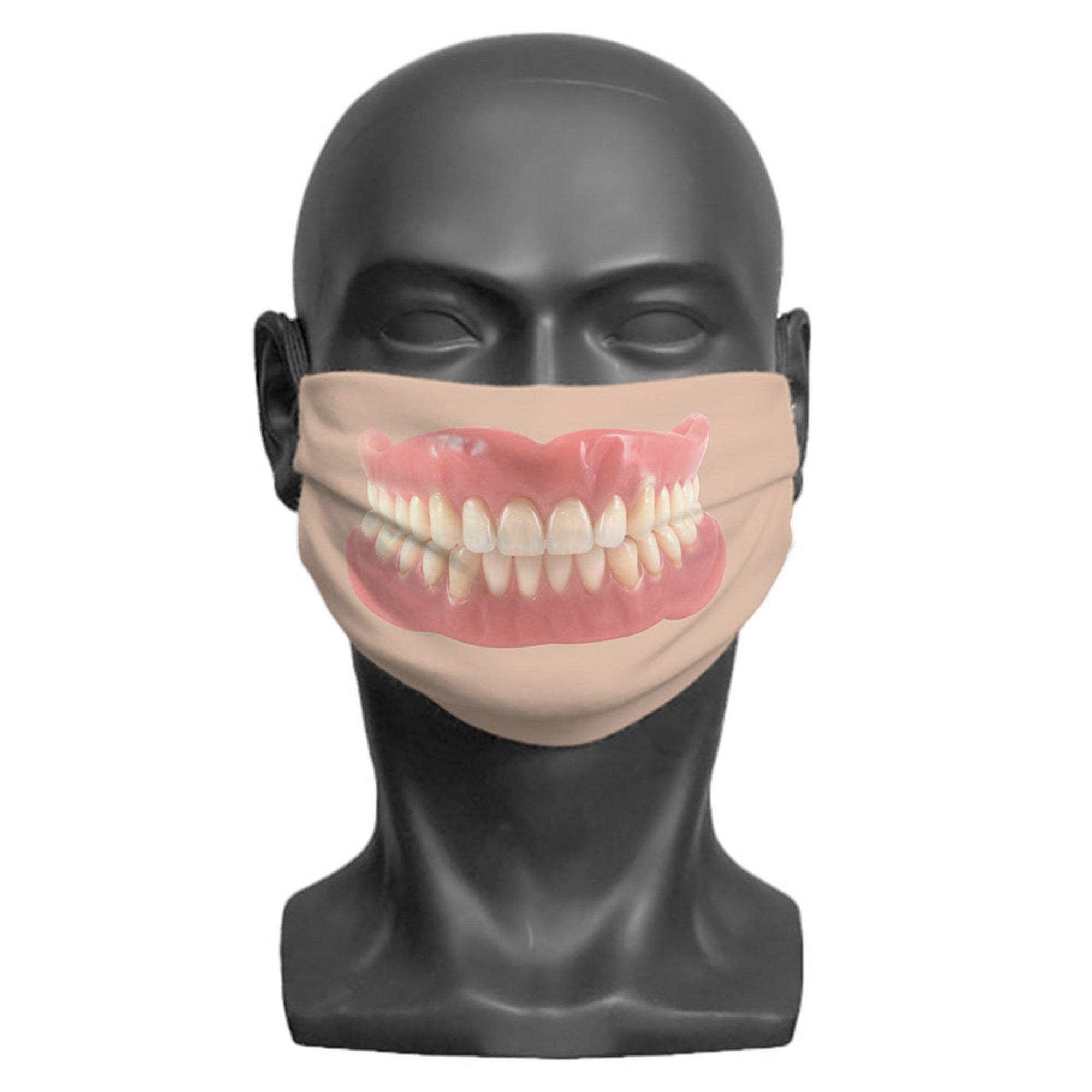 Image of Adult False Teeth Print Face Mask