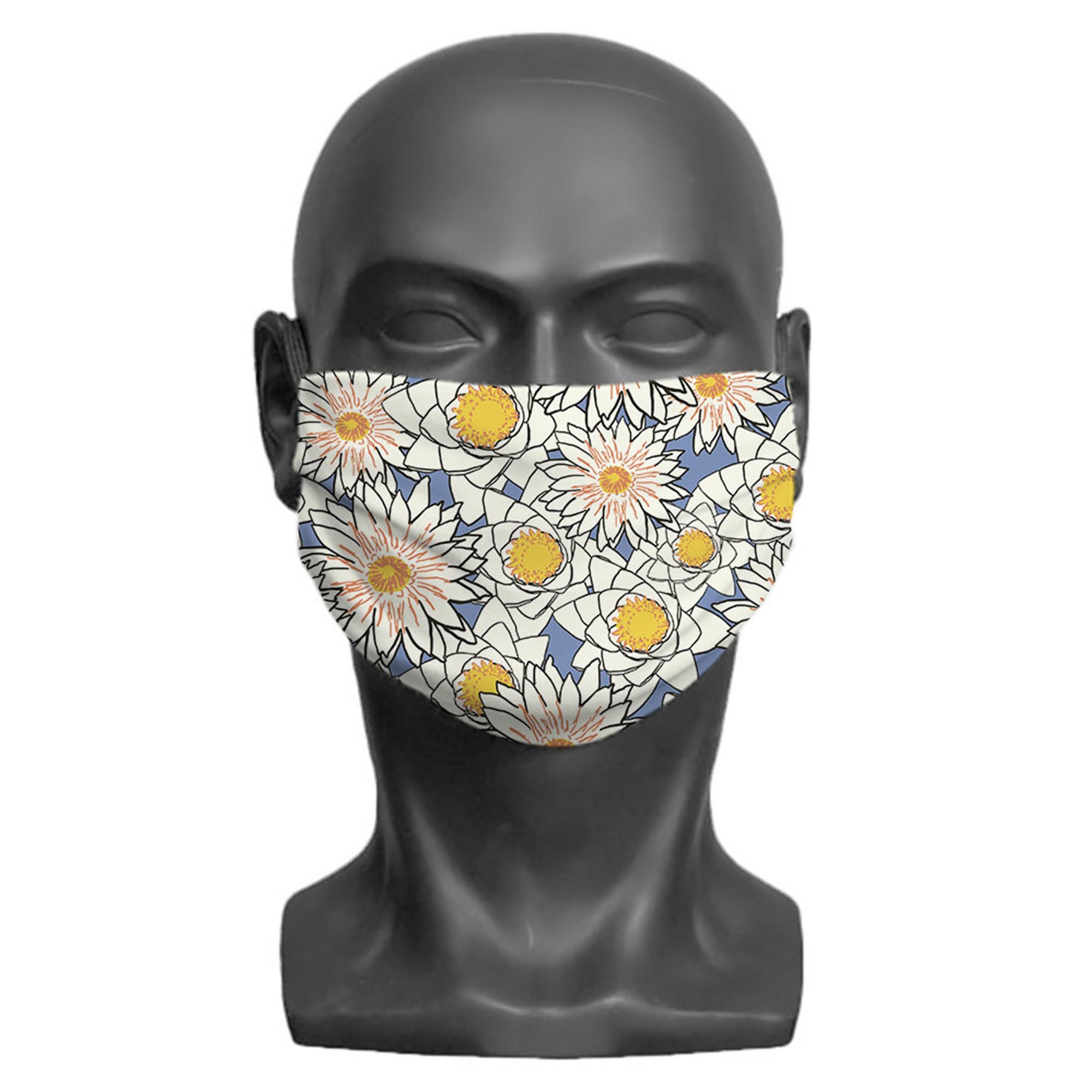 Image of Adult Flowers Print Face Mask