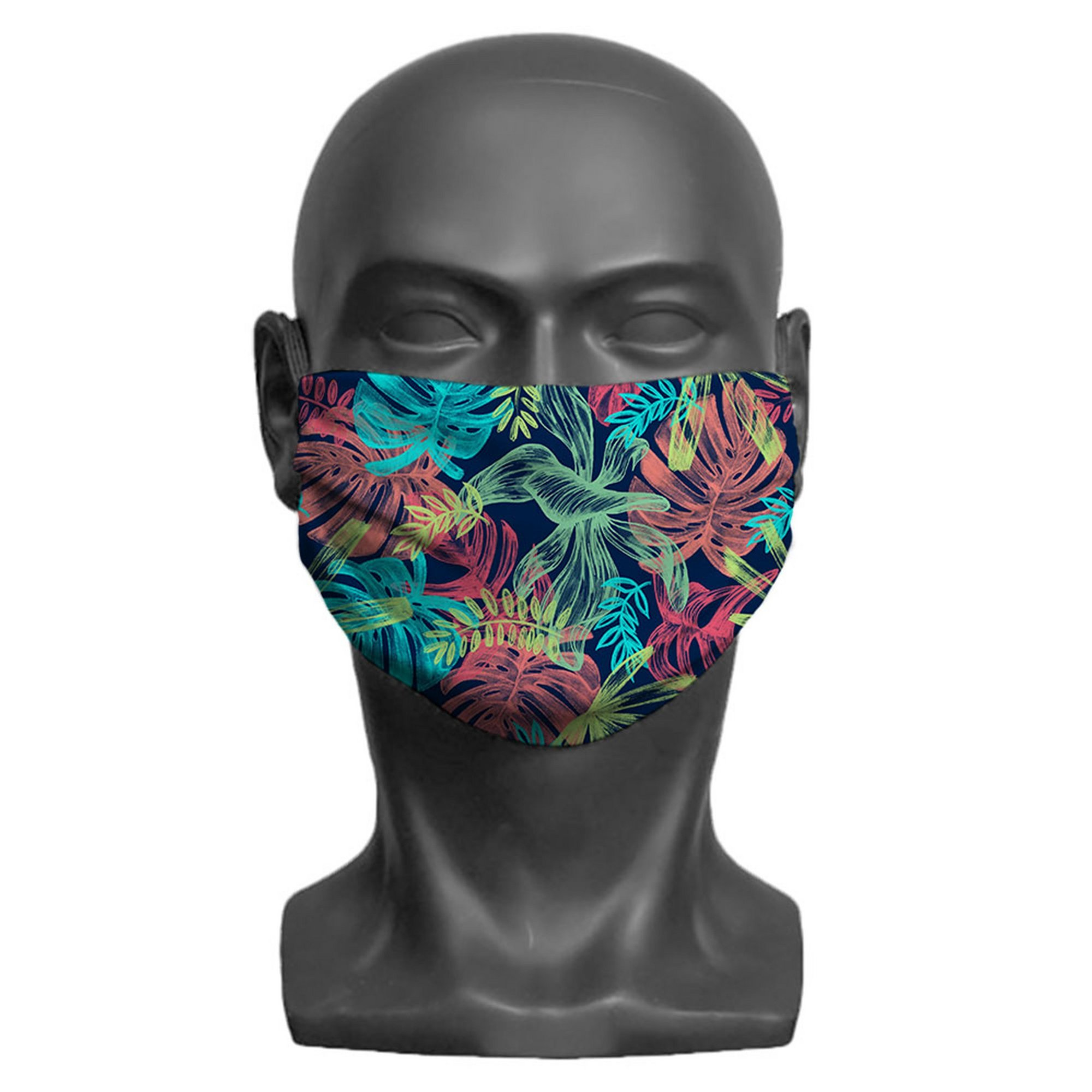 Image of Adult Leaf Print Face Mask