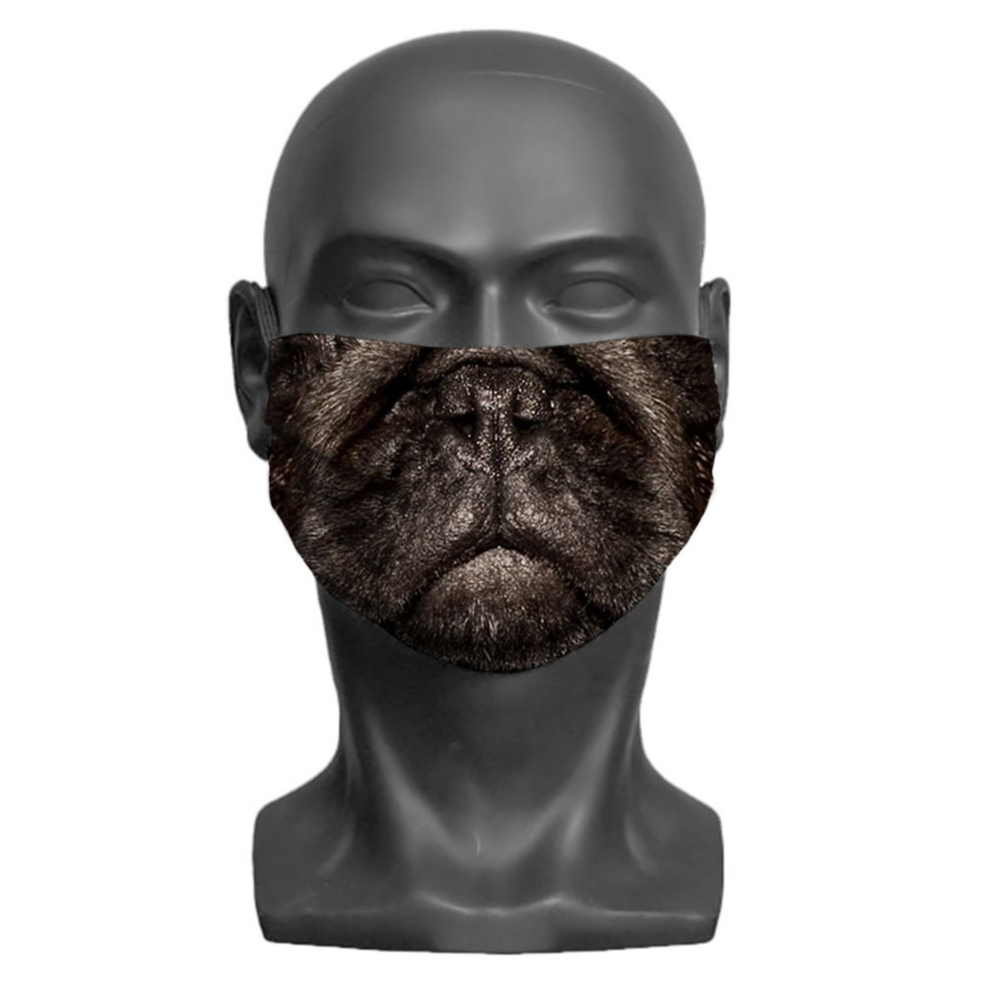 Image of Adult Pug Print Face Mask