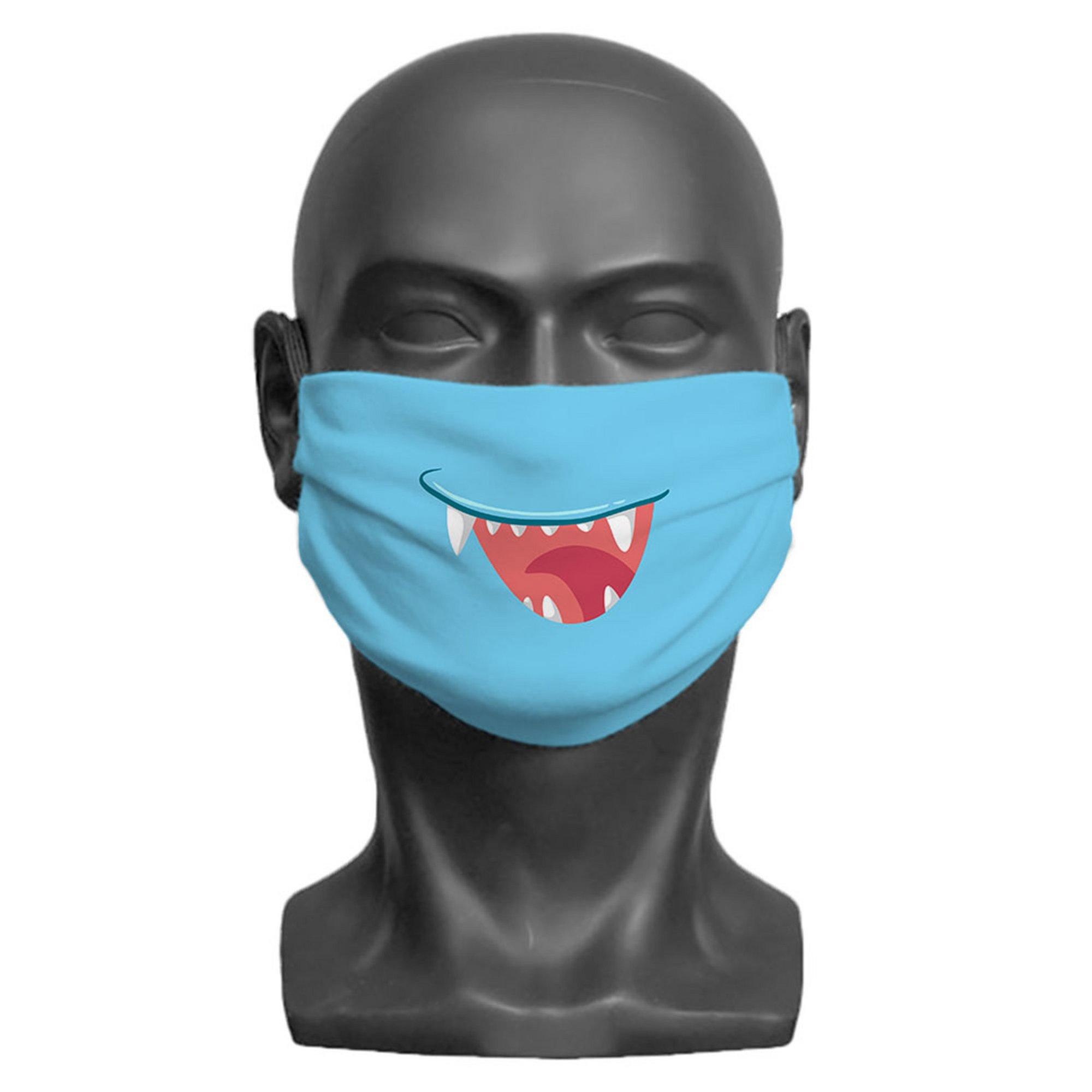 Image of Kids Little Monster Blue Face Mask