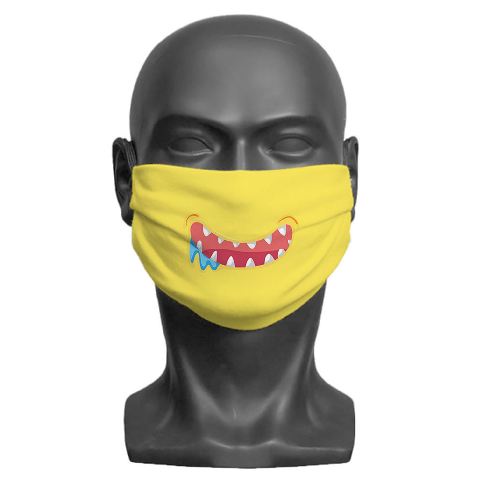 Image of Kids Little Monster Yellow Face Mask