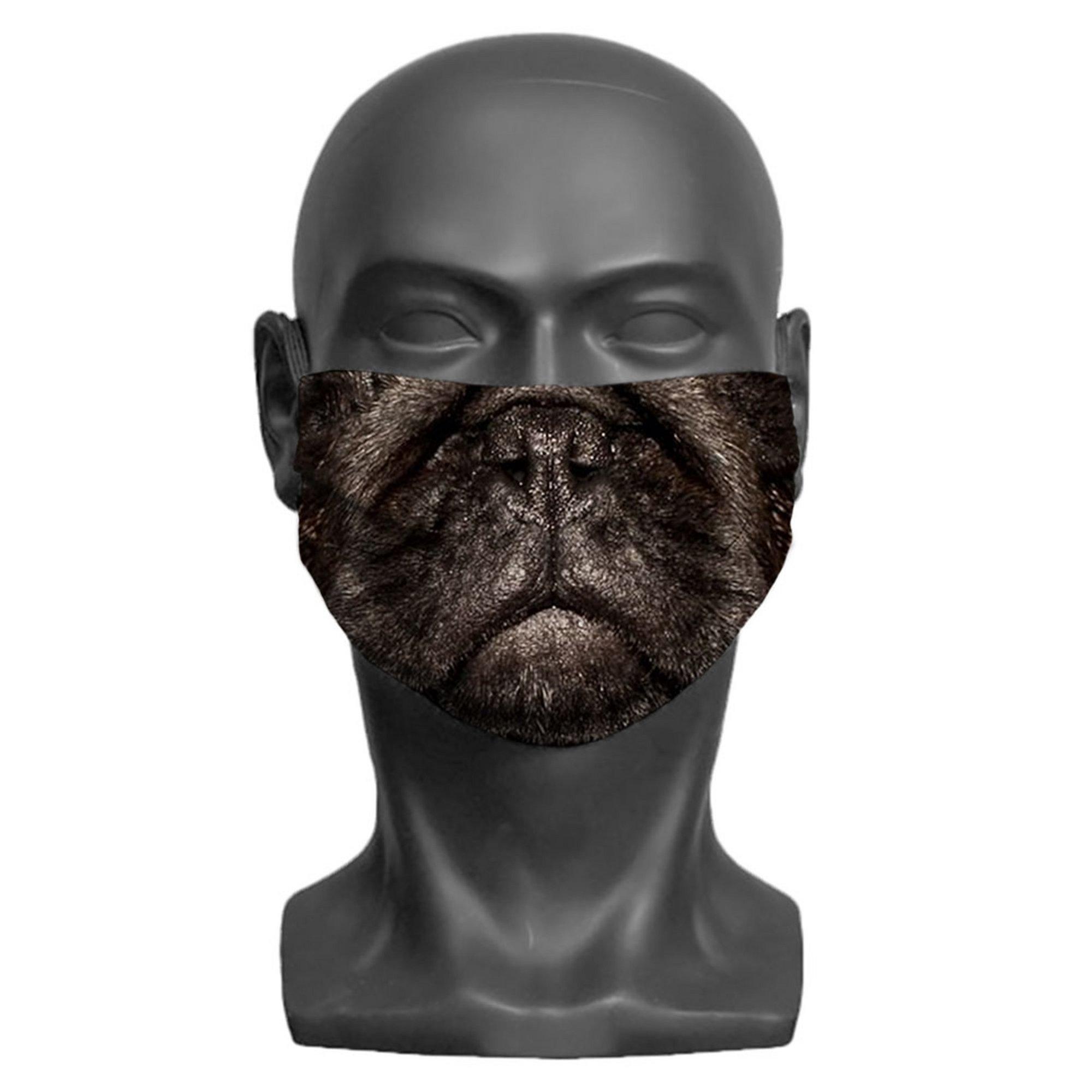 Image of Kids Pug Print Face Mask