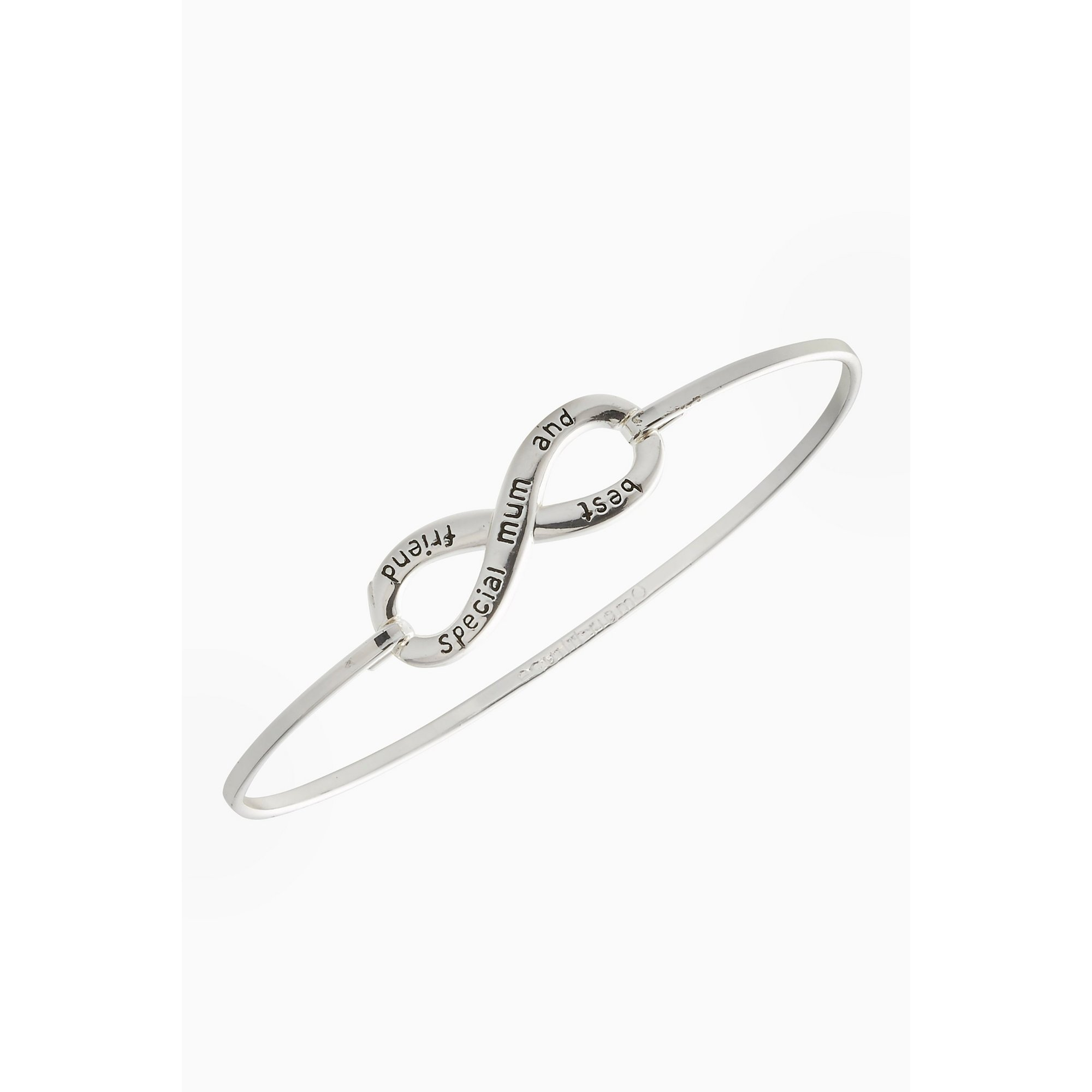 Image of Equilibrium Silver Plated Infinity Mum Bangle