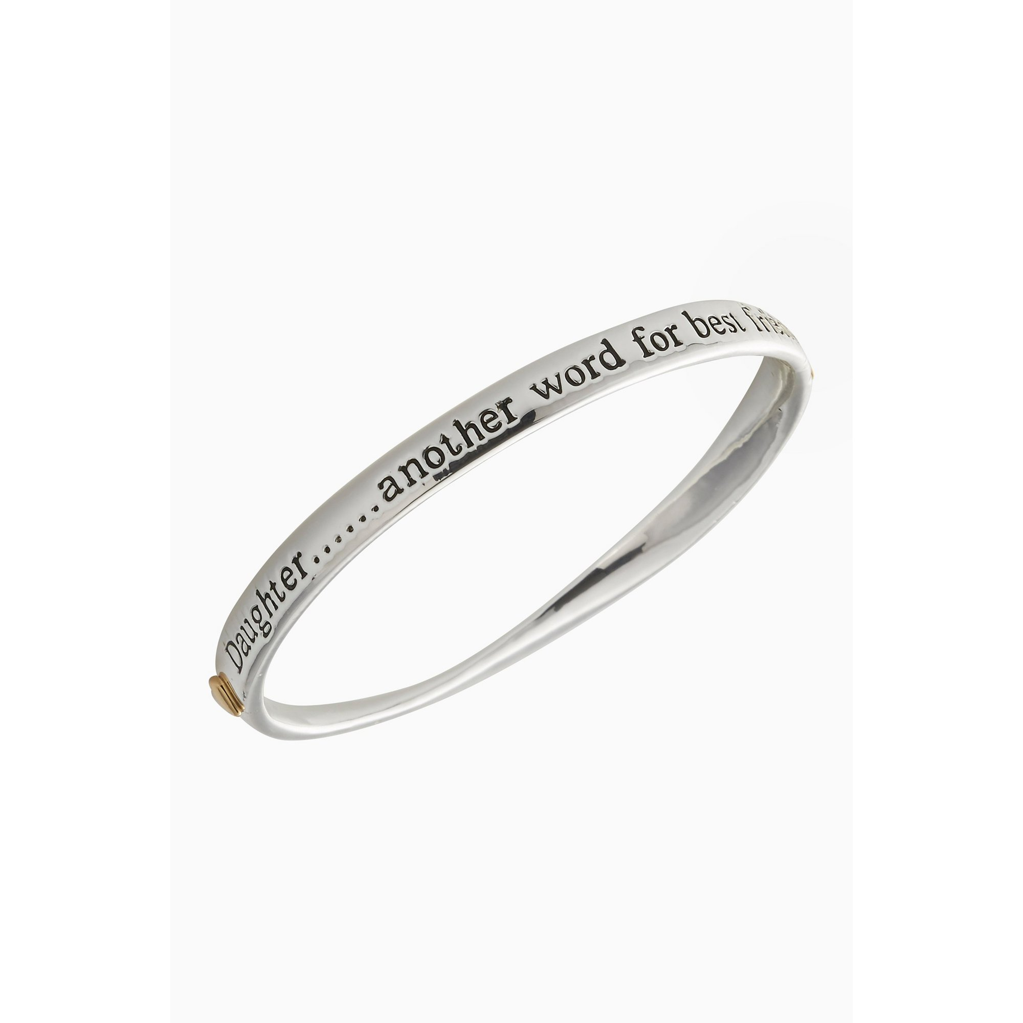 Image of Equilibrium Silver Plated 2 Tone Daughter Bangle