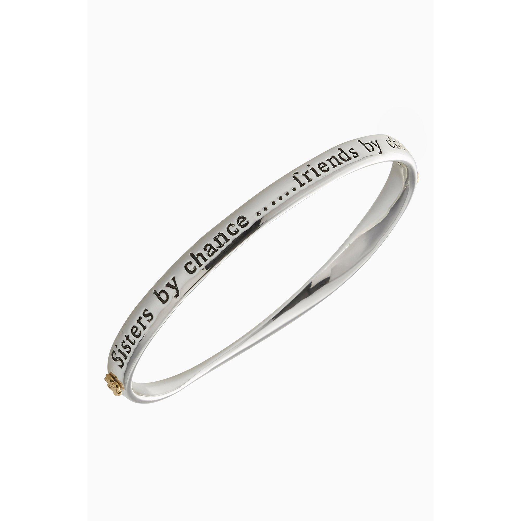 Image of Equilibrium Silver Plated 2 Tone Sister Bangle