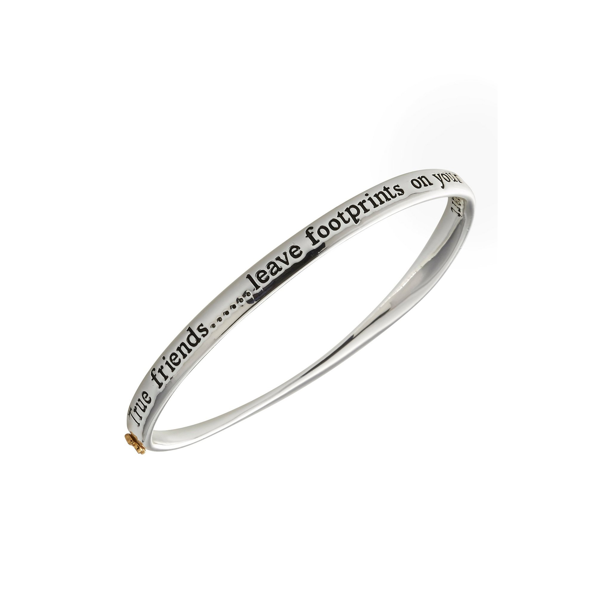 Image of Equilibrium Silver Plated 2 Tone Friends Bangle
