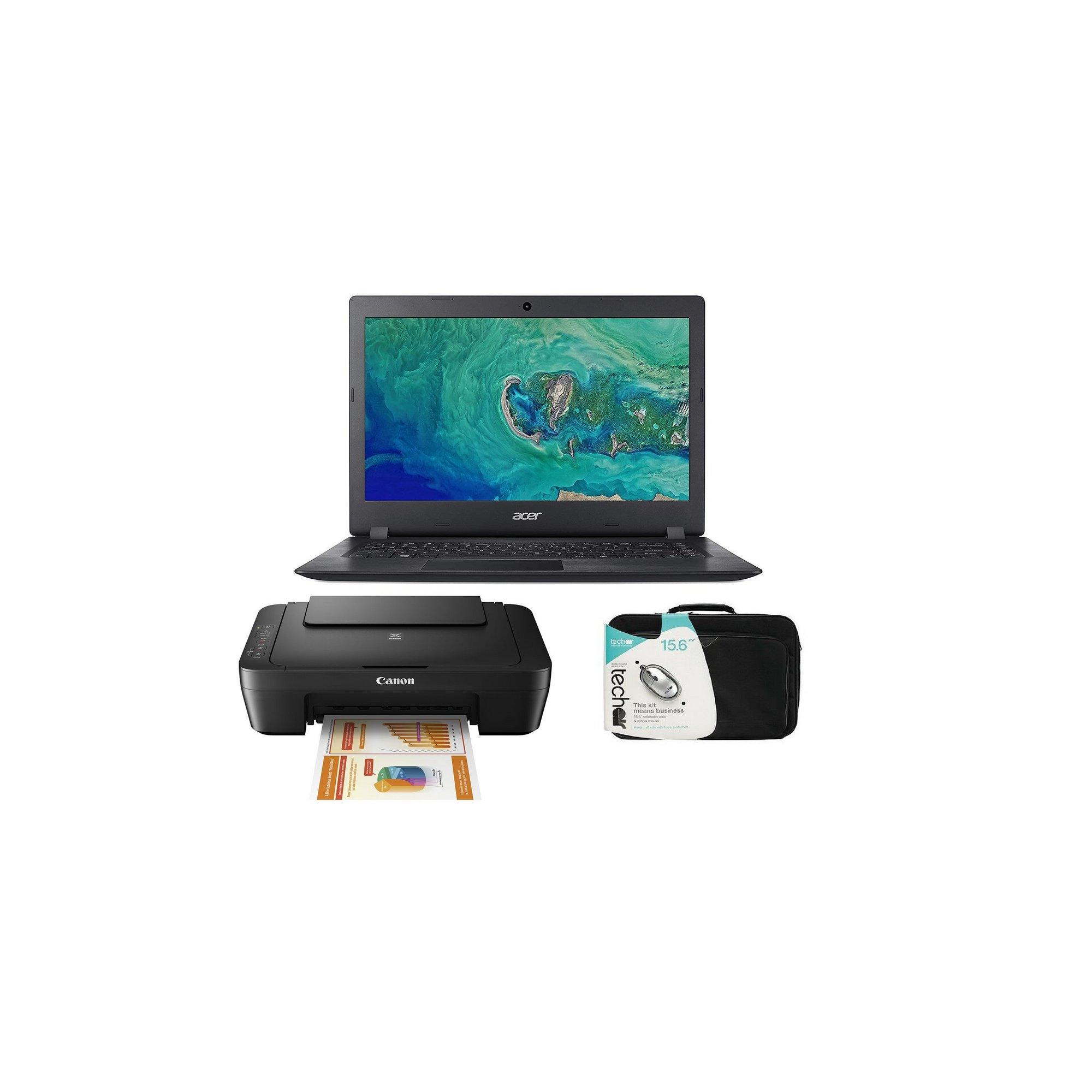 Image of Acer Aspire 1 14 Inch Intel Windows 10 Home 4GB 64GB Laptop Bundle