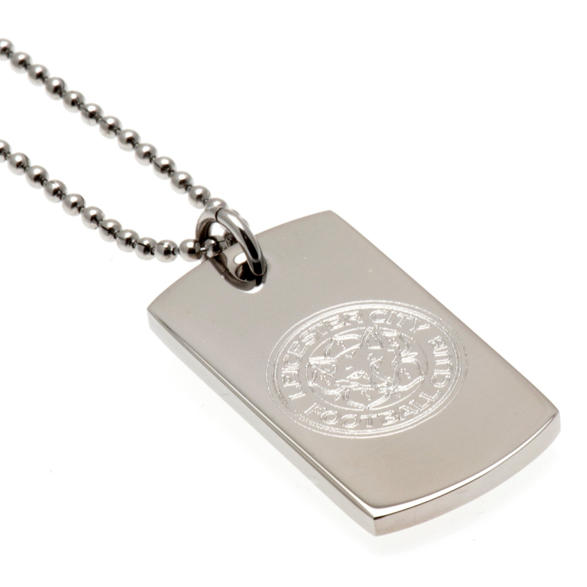 Image of Leicester City FC Stainless Steel Dog Tag and Ball Chain