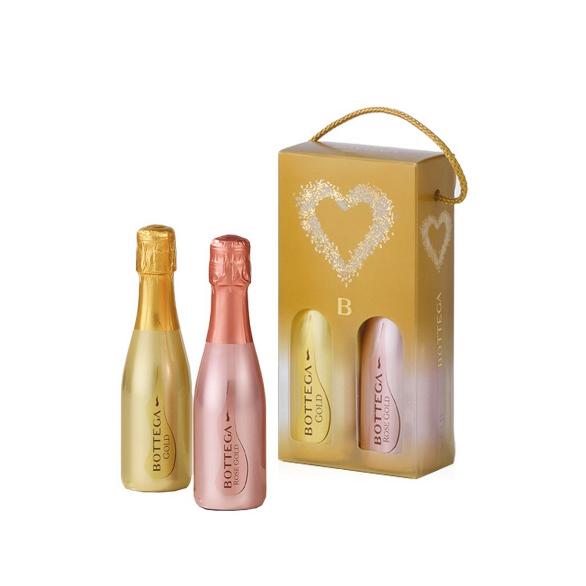 Image of Bottega Rose and Gold Mini Selection x 20cl