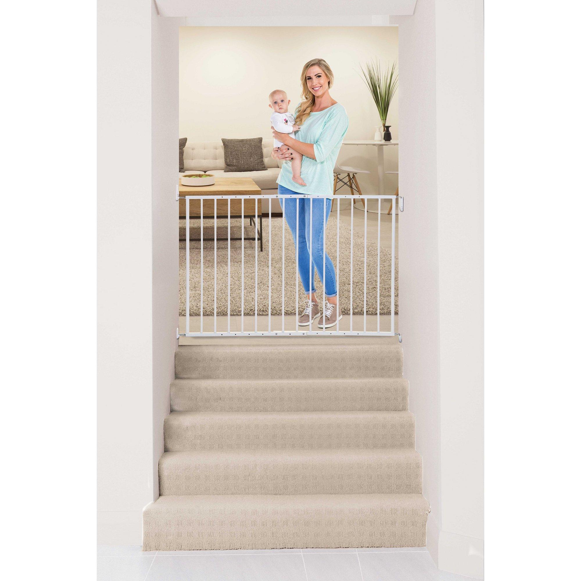 Image of Dreambaby Arizona White Metal 2 Panel Extenda Gate (67-112cm)