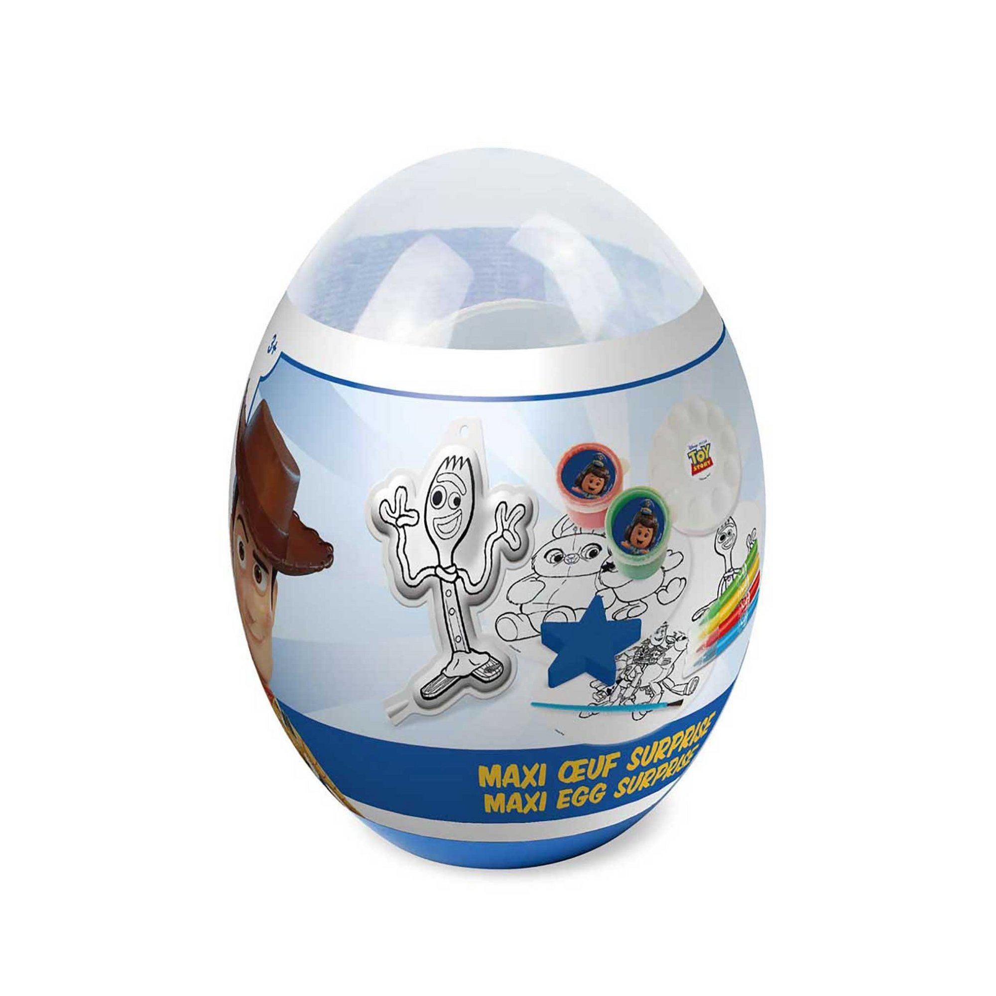Image of Disney Toy Story 4 Childrens Maxi Egg Surprise with Creative Acce...
