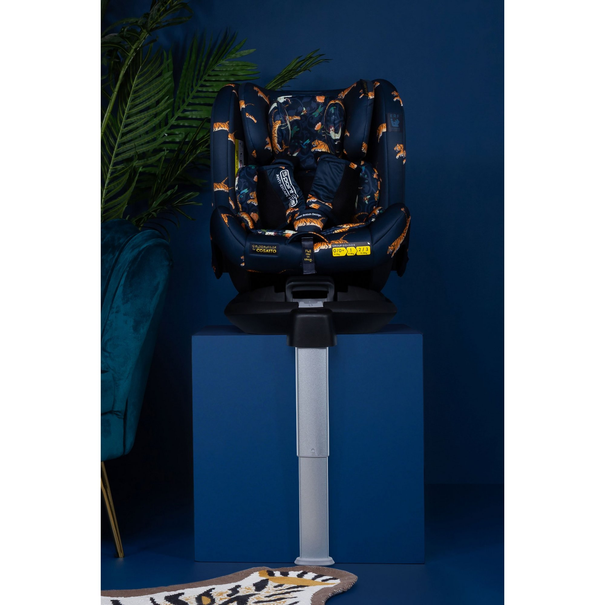 Image of Cosatto Paloma All In All Rotate Group 0+123 Car Seat Paloma Tiger