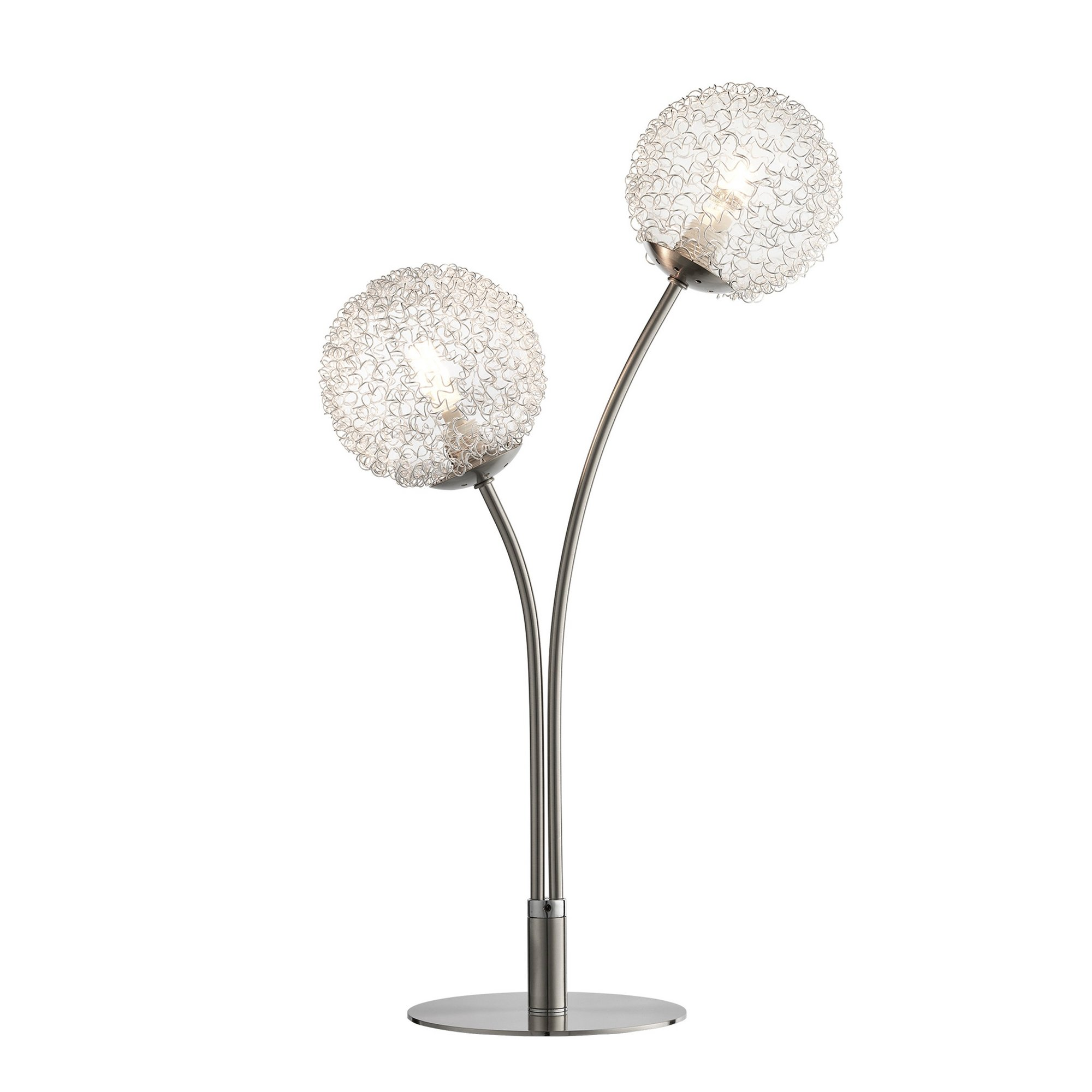 Image of 2 Light Wire Ball Table Lamp