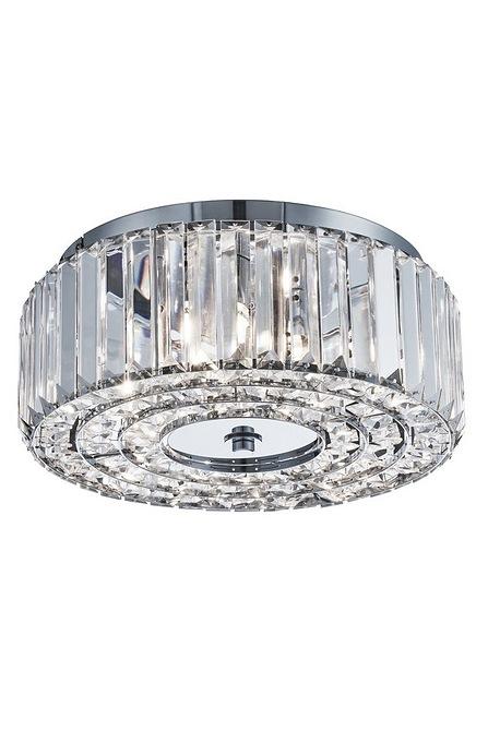 4 Light Round Crystal Flush Ceiling Light Studio