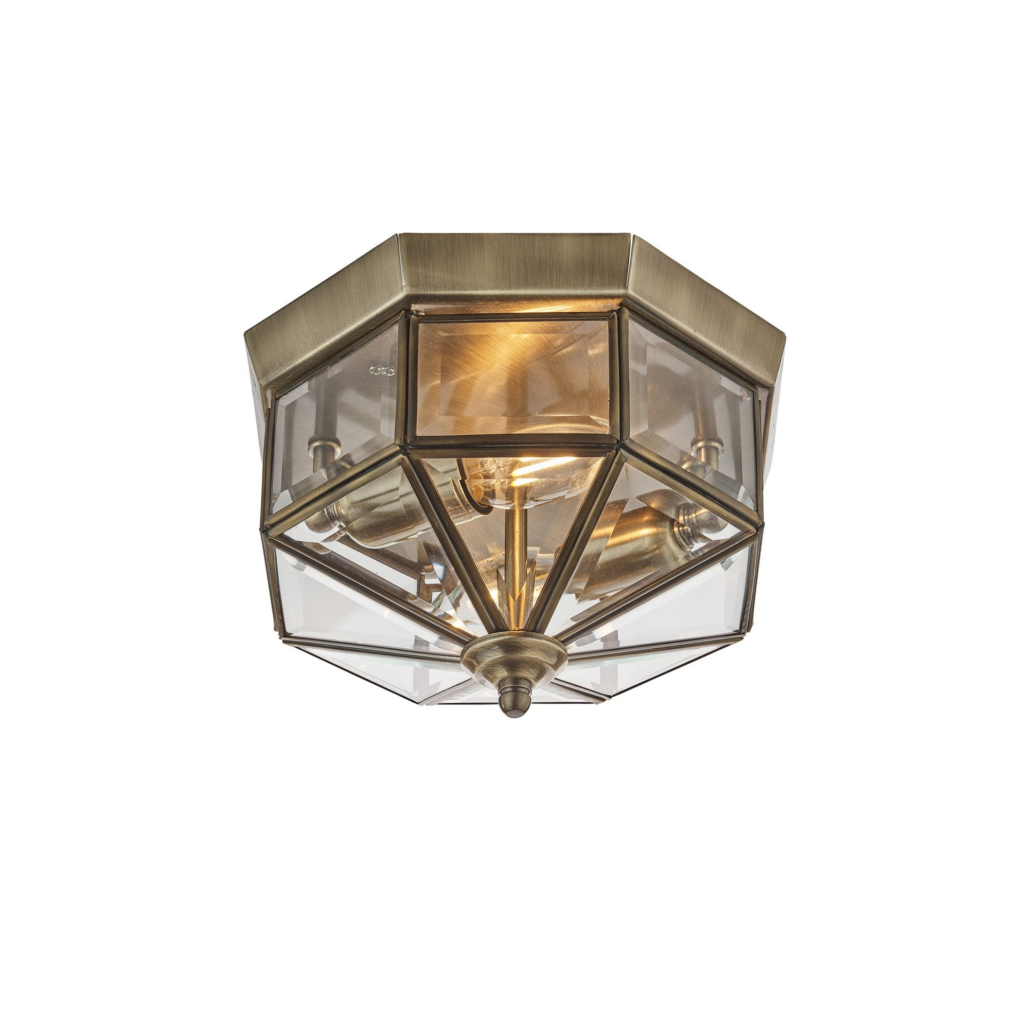 Image of 2 Light Octagonal Flush Ceiling Light