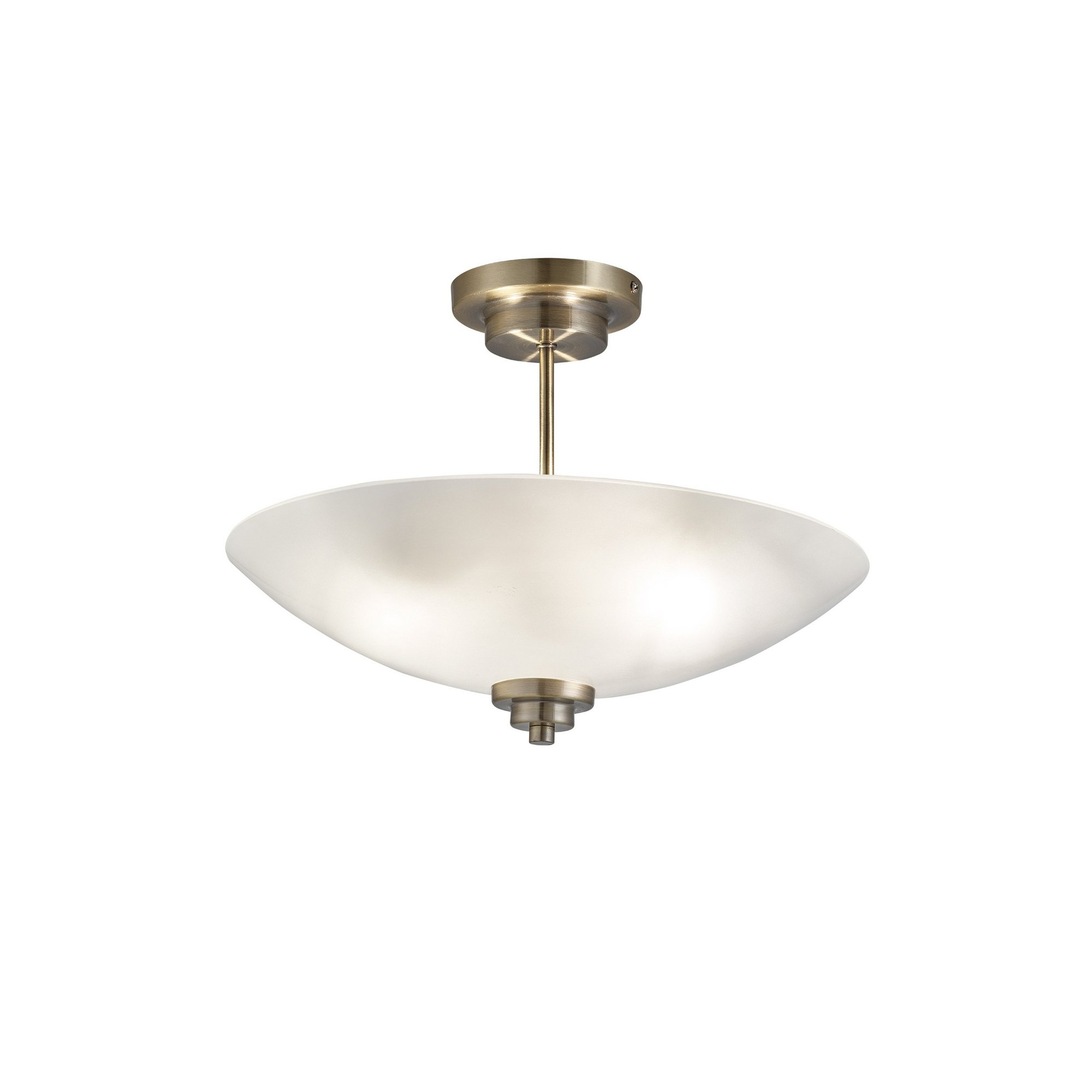 Image of 2 Light Ceiling Light with Frosted Glass Dome