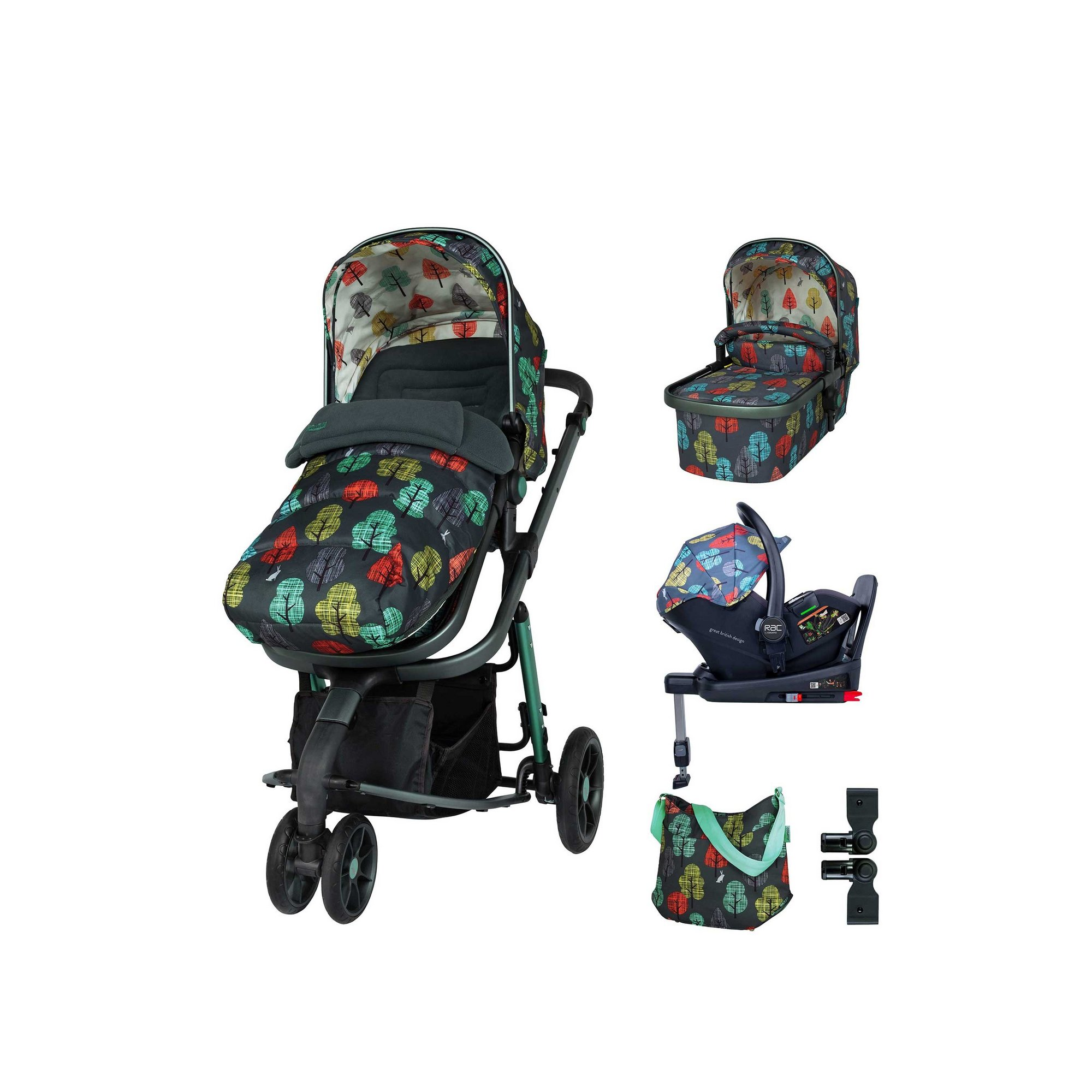 Image of Cosatto Giggle 3 Everything Bundle Harewood