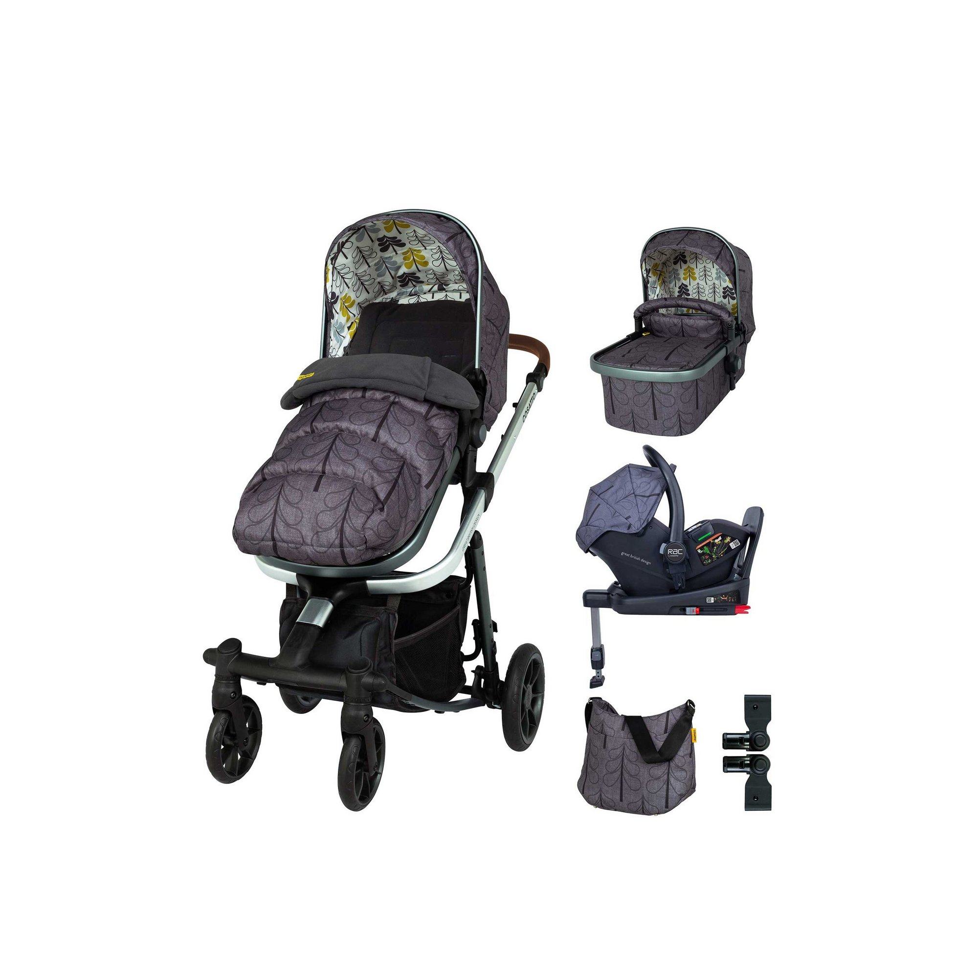 Image of Cosatto Giggle Quad Everything Bundle Fika Forest