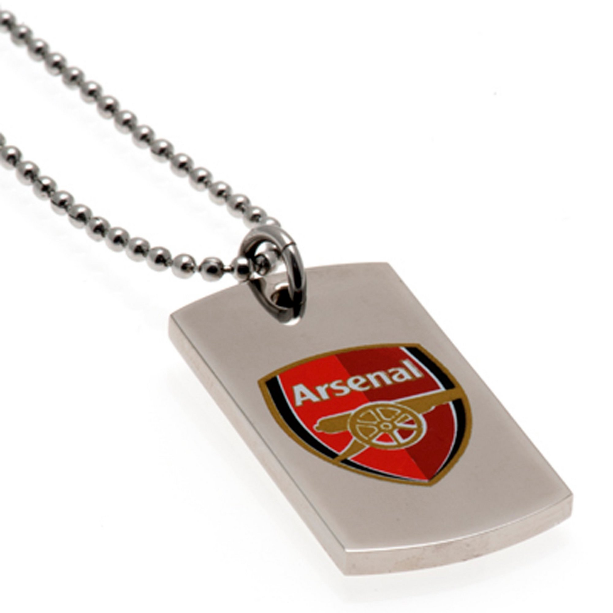Image of Arsenal FC Stainless Steel Coloured Dog Tag