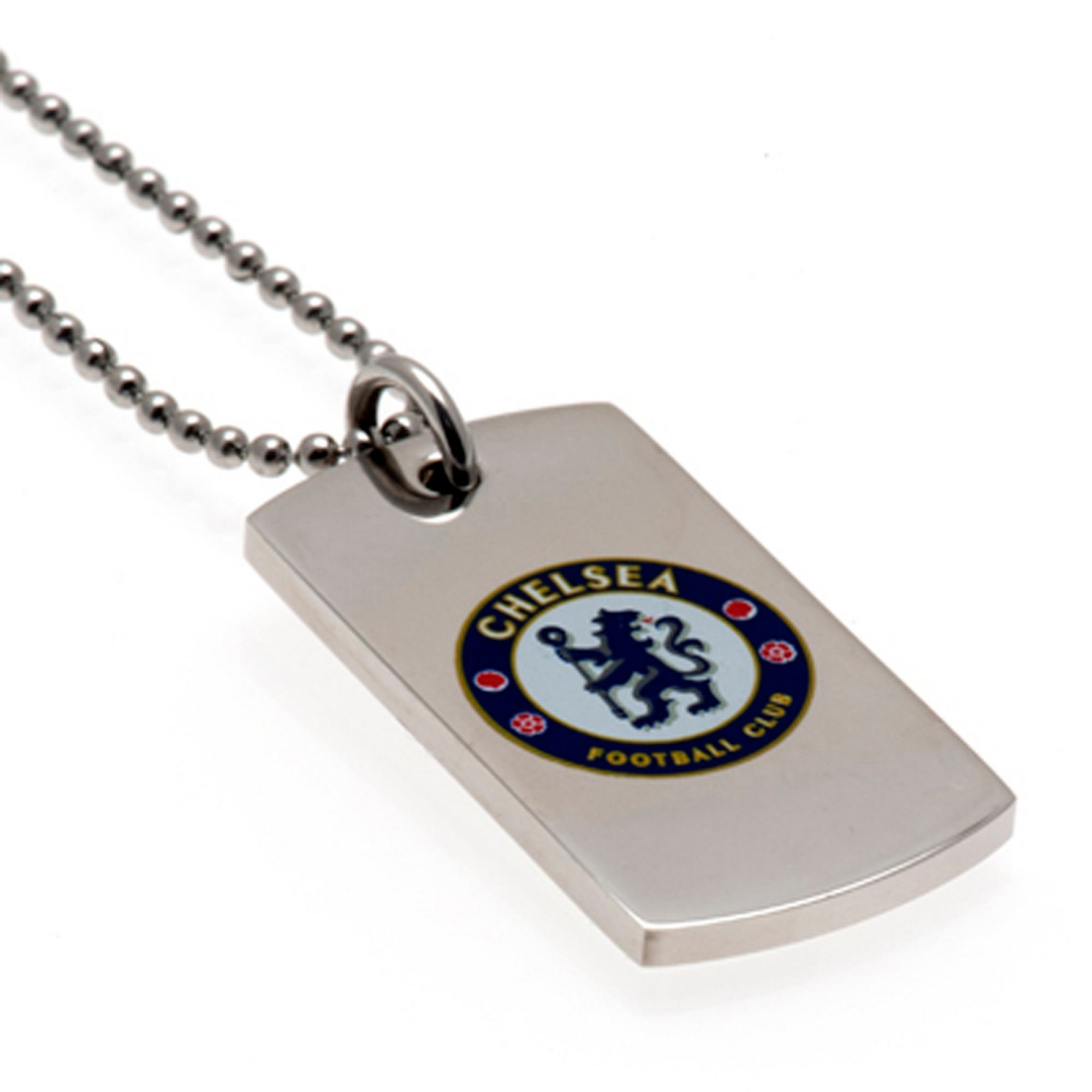 Image of Chelsea FC Stainless Steel Coloured Dog Tag