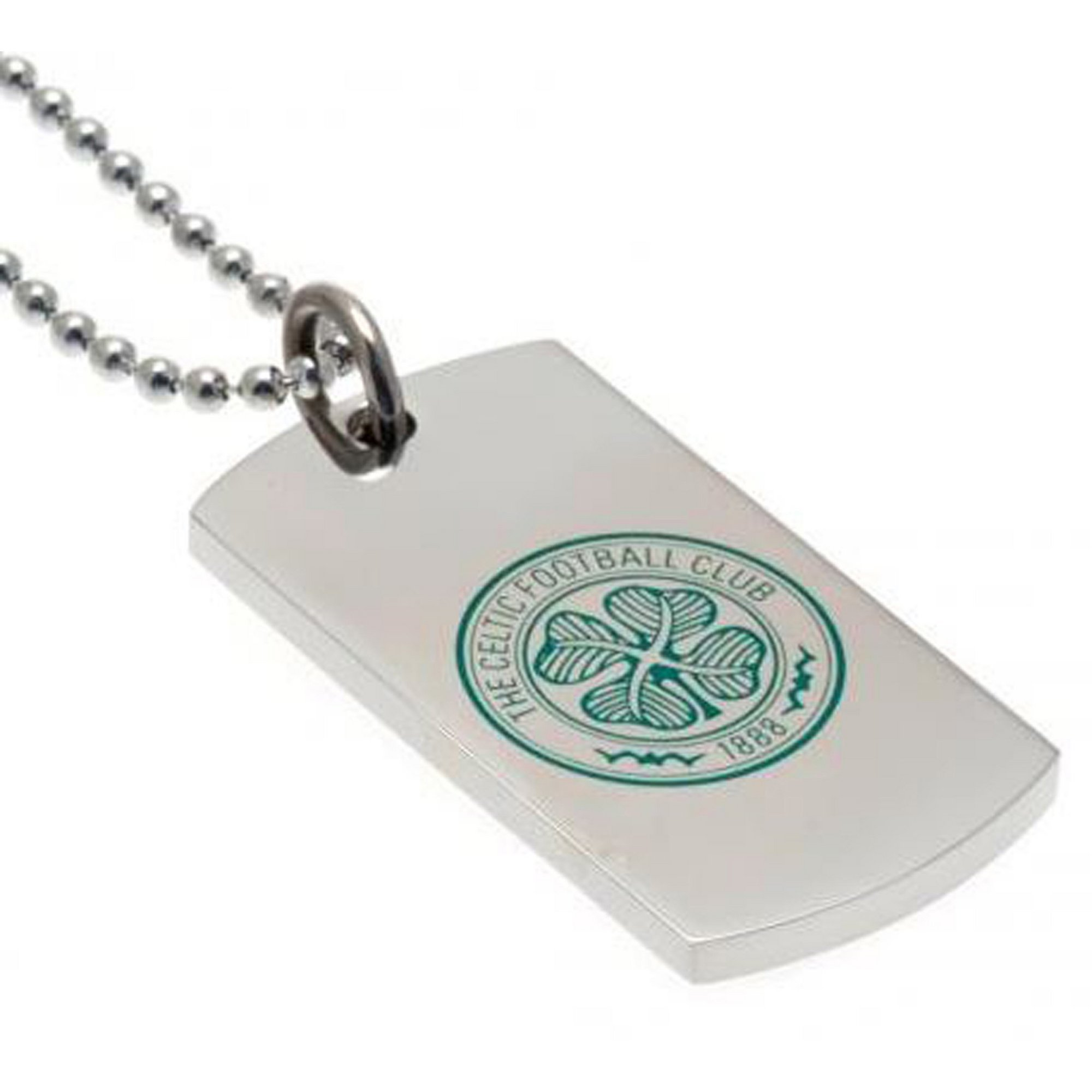 Image of Celtic FC Stainless Steel Coloured Dog Tag