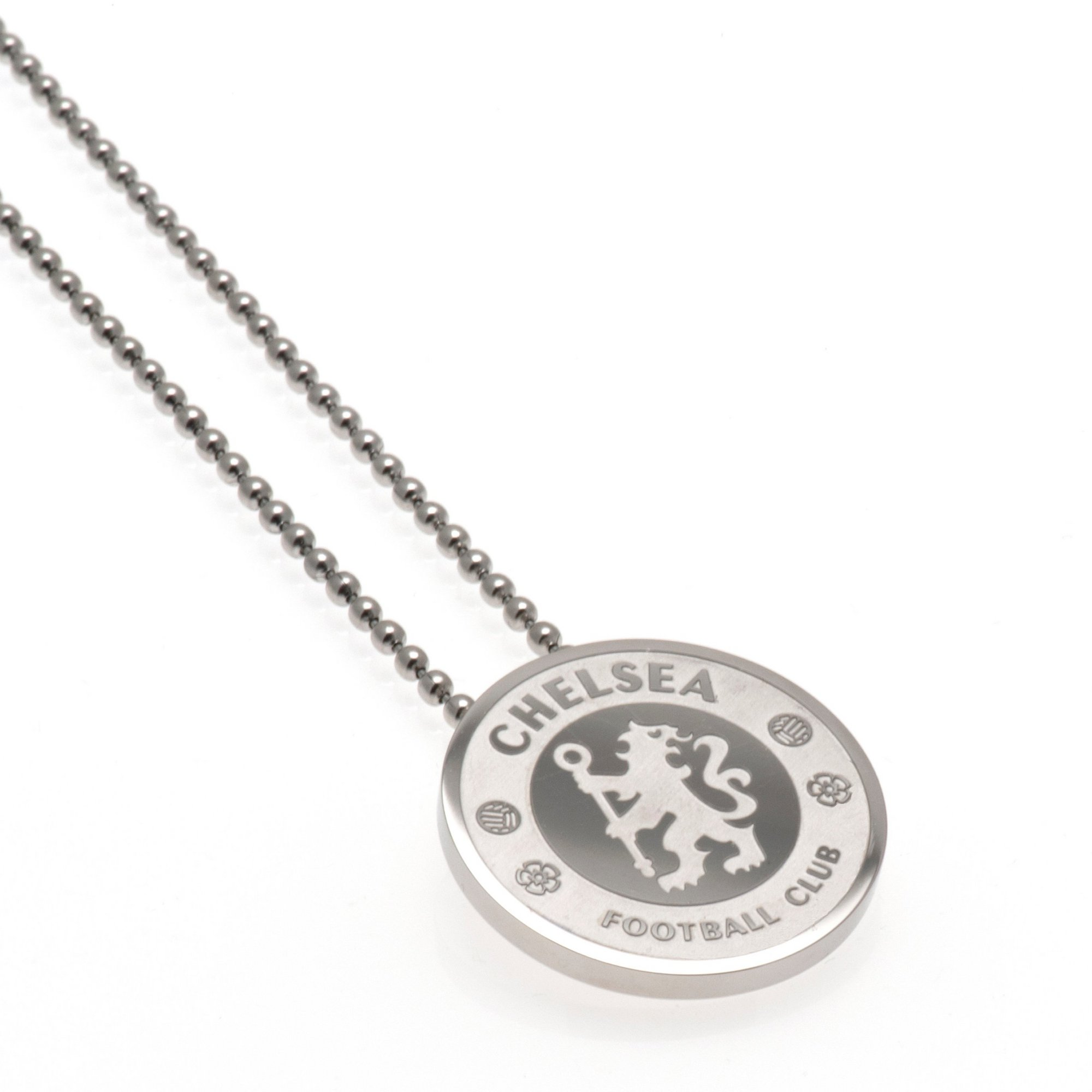 Image of Chelsea FC Stainless Steel Crest Pendant