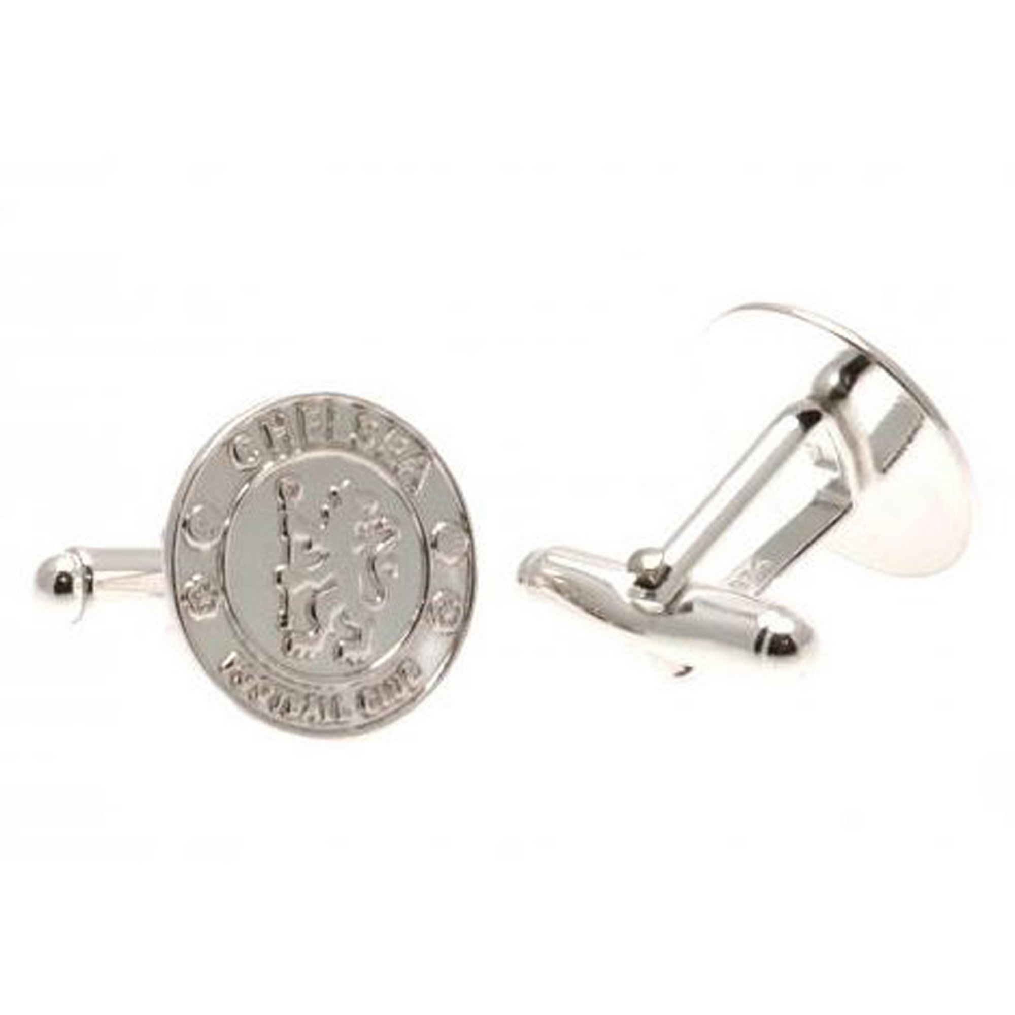 Image of Chelsea FC Sterling Silver Crest Cufflinks