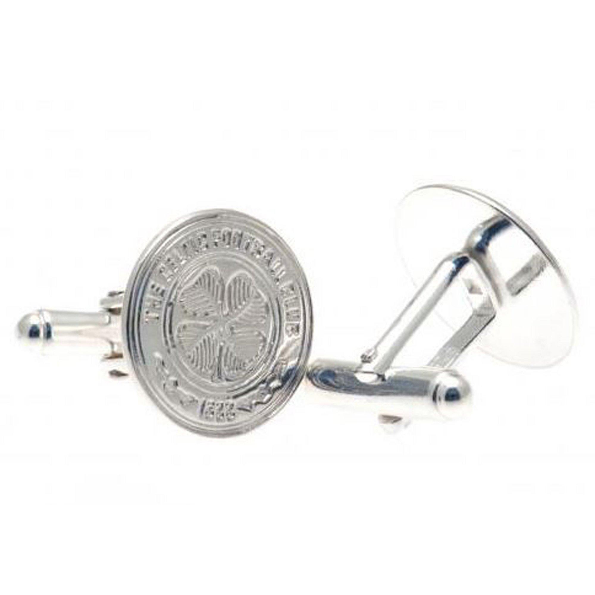 Image of Celtic FC Sterling Silver Crest Cufflinks
