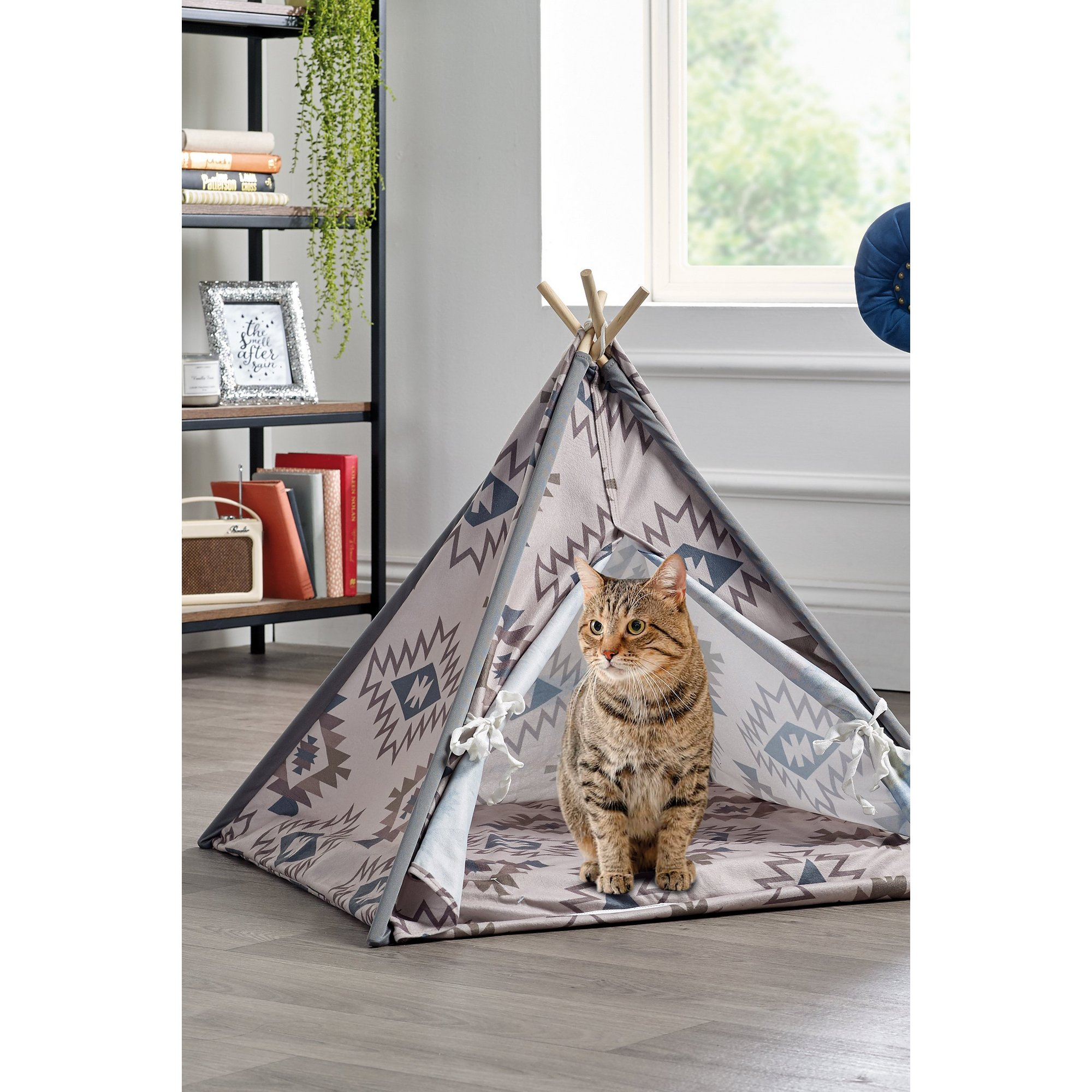Image of Aztec Fleece Pet Teepee