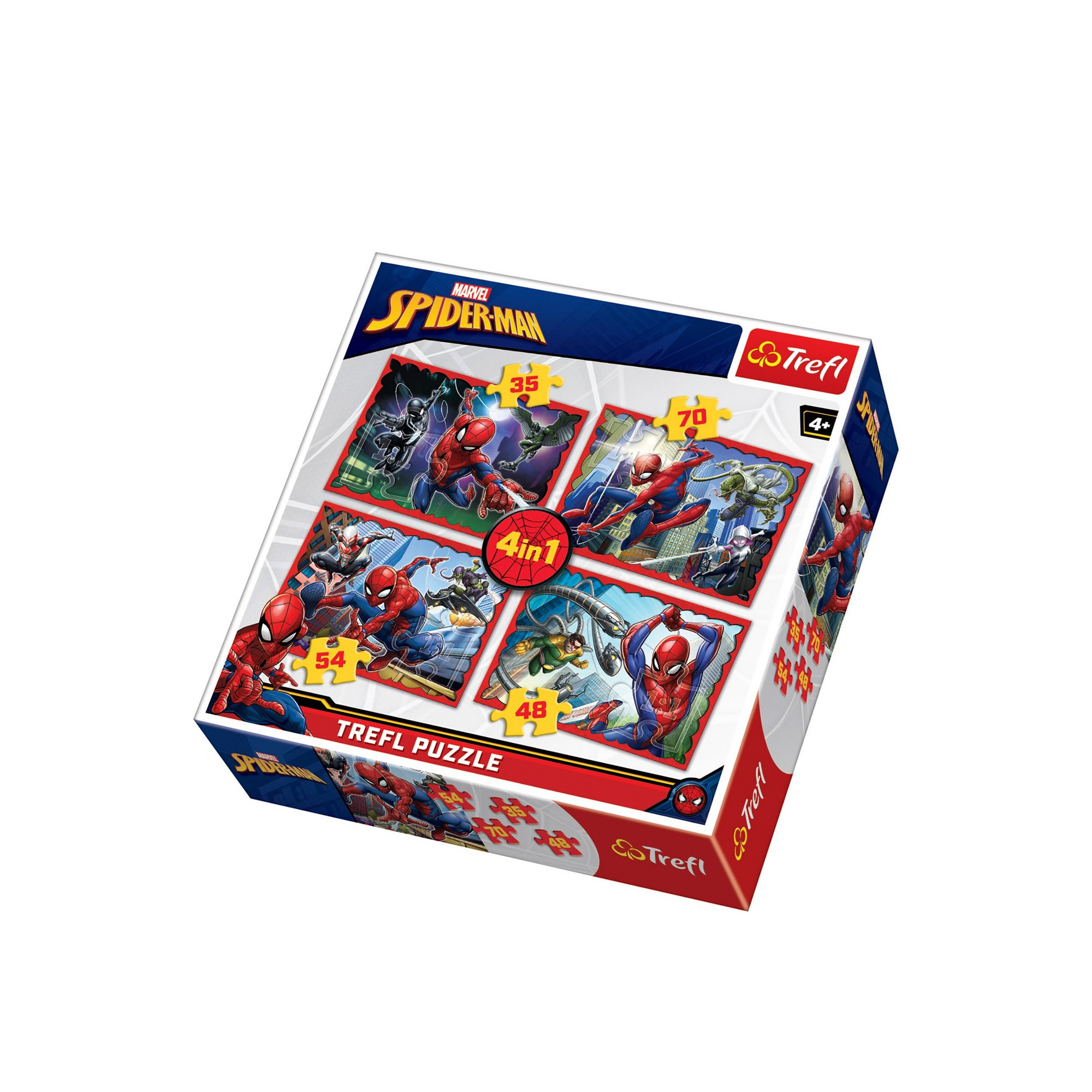 Image of 4 in 1 Spiderman Jigsaw Puzzle
