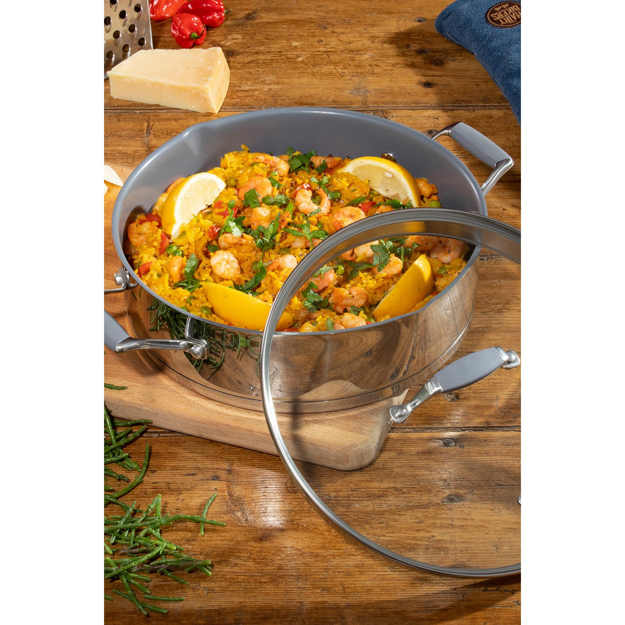 Image of Hairy Bikers 28cm Stainless Steel Professional Saute Pan