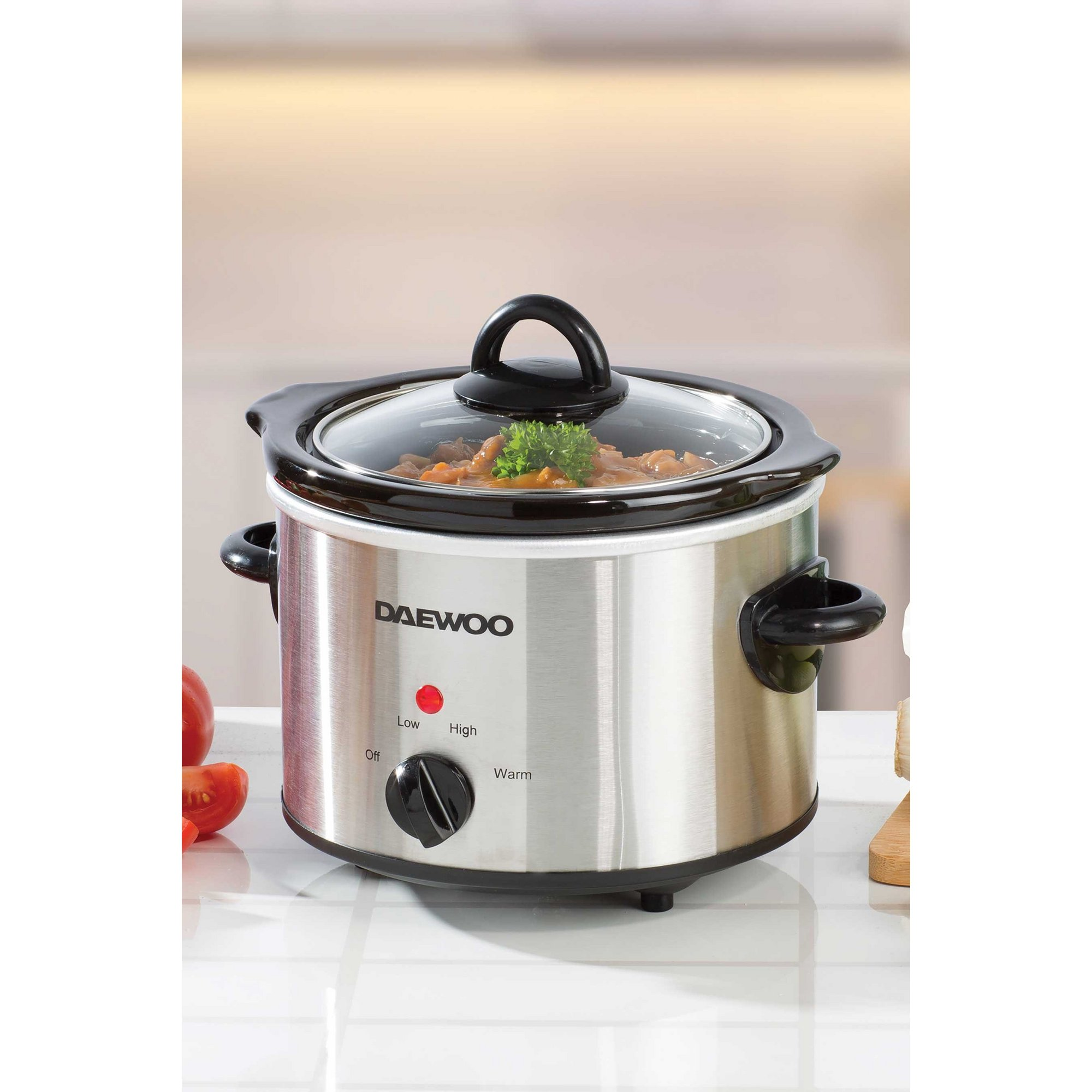 Image of Daewoo 1.5 Litre Slow Cooker - Stainless Steel