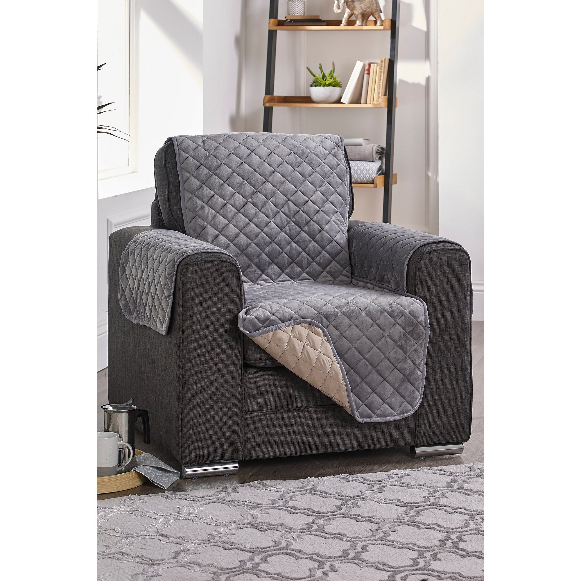 Image of Reversible Faux Velvet Furniture Protector