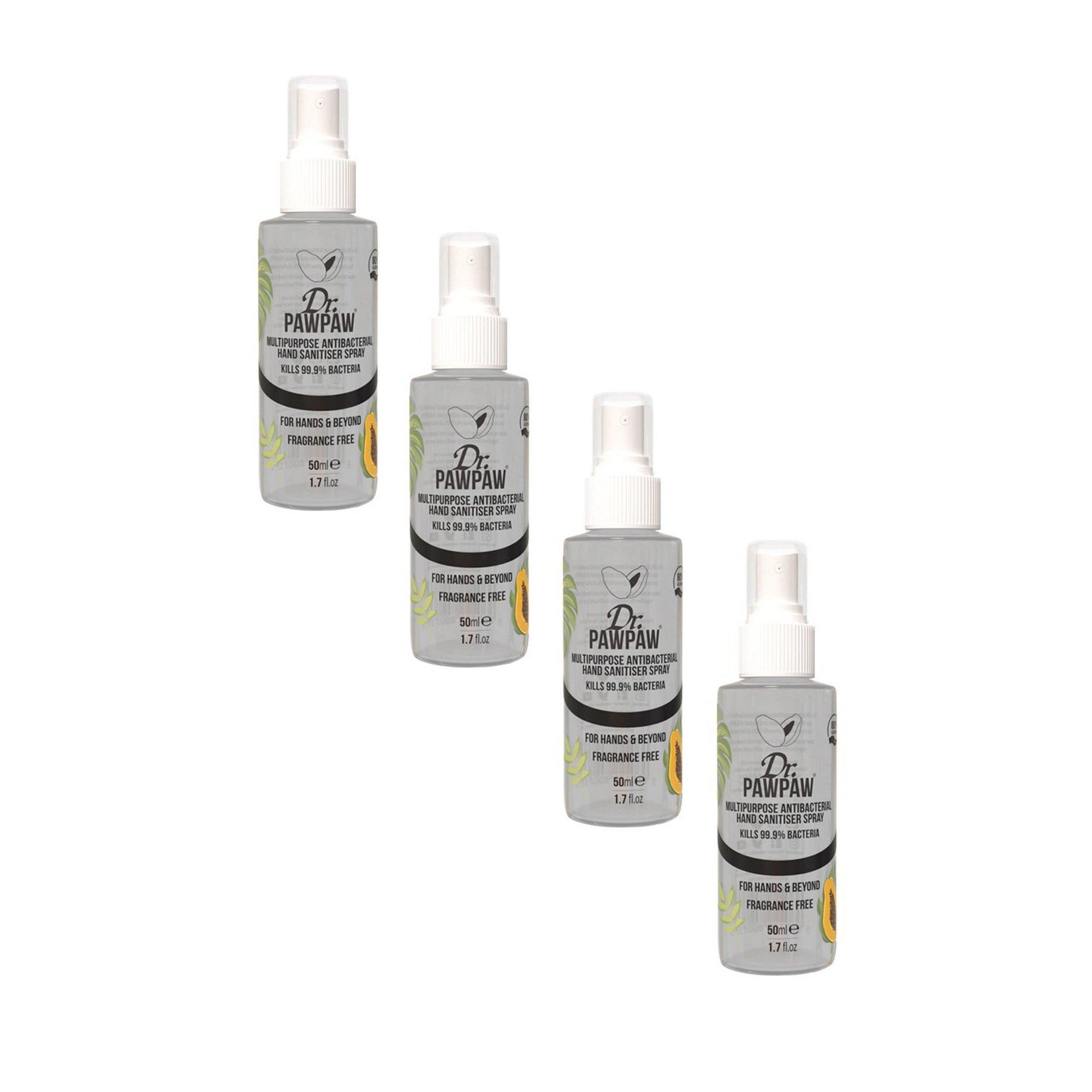 Image of Pack of 4 Dr Paw Paw Antibacterial Sanitiser Spray