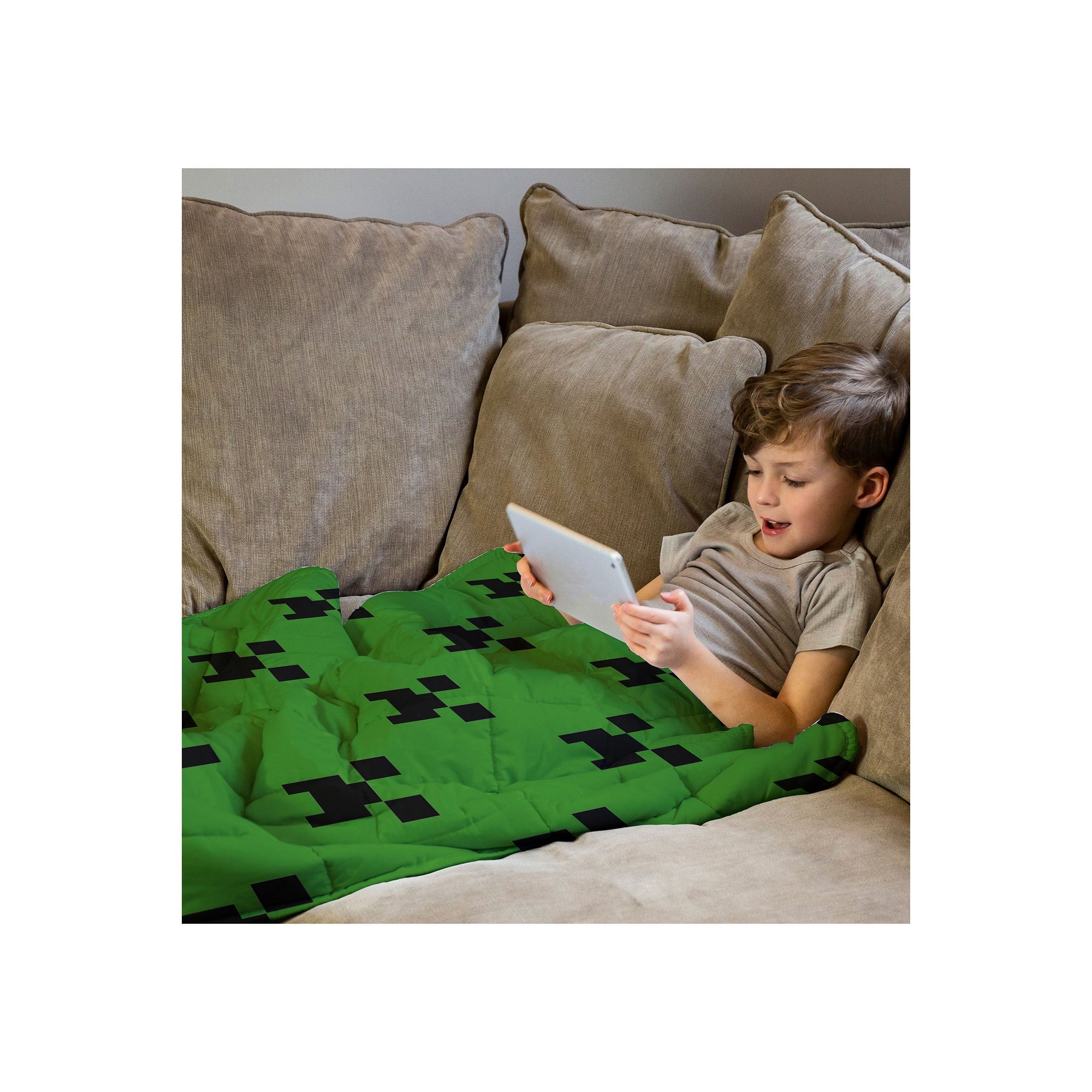 Image of Minecraft Creeper Weighted Blanket