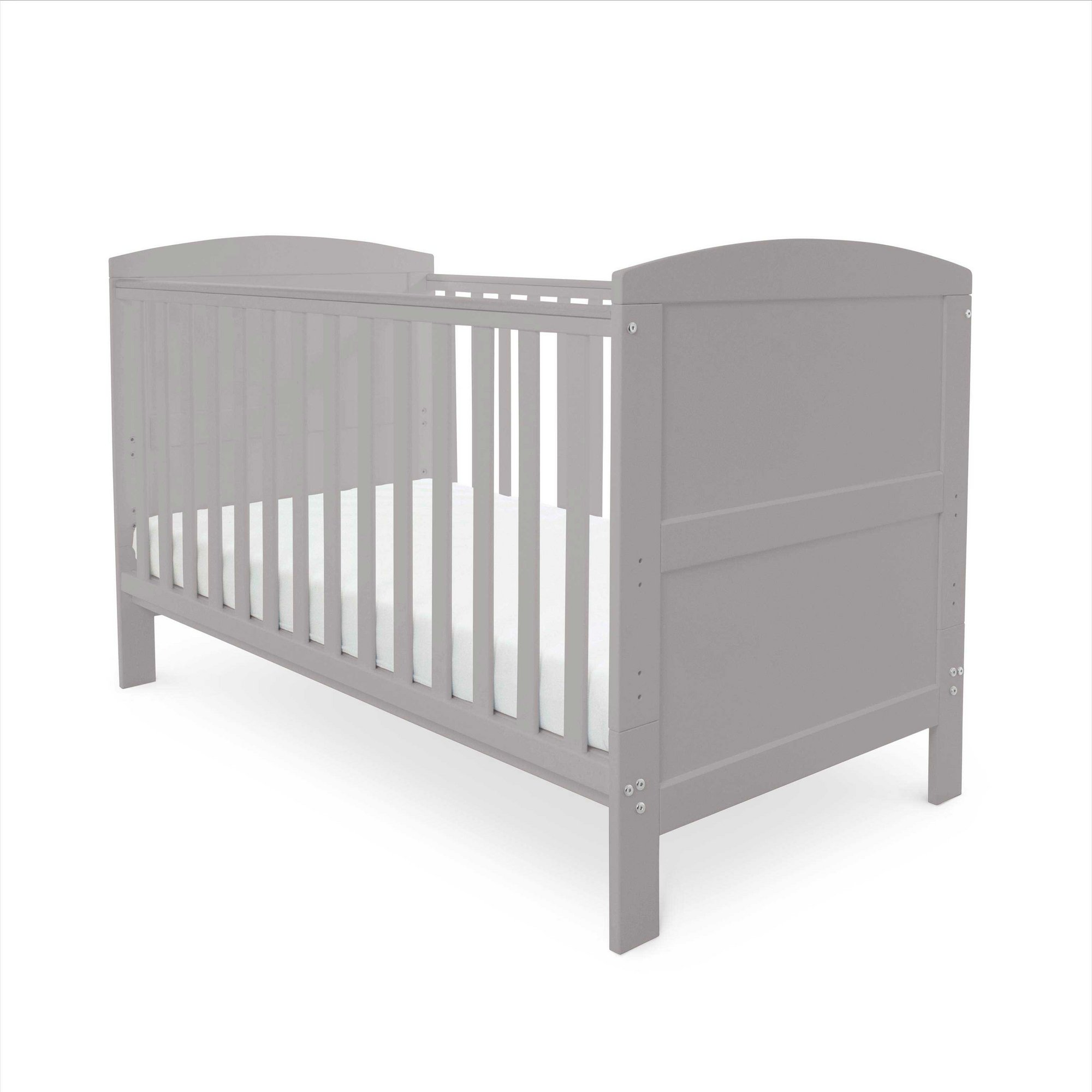 Image of Coleby Cot Bed Inc. Pocket Sprung Mattress - Grey