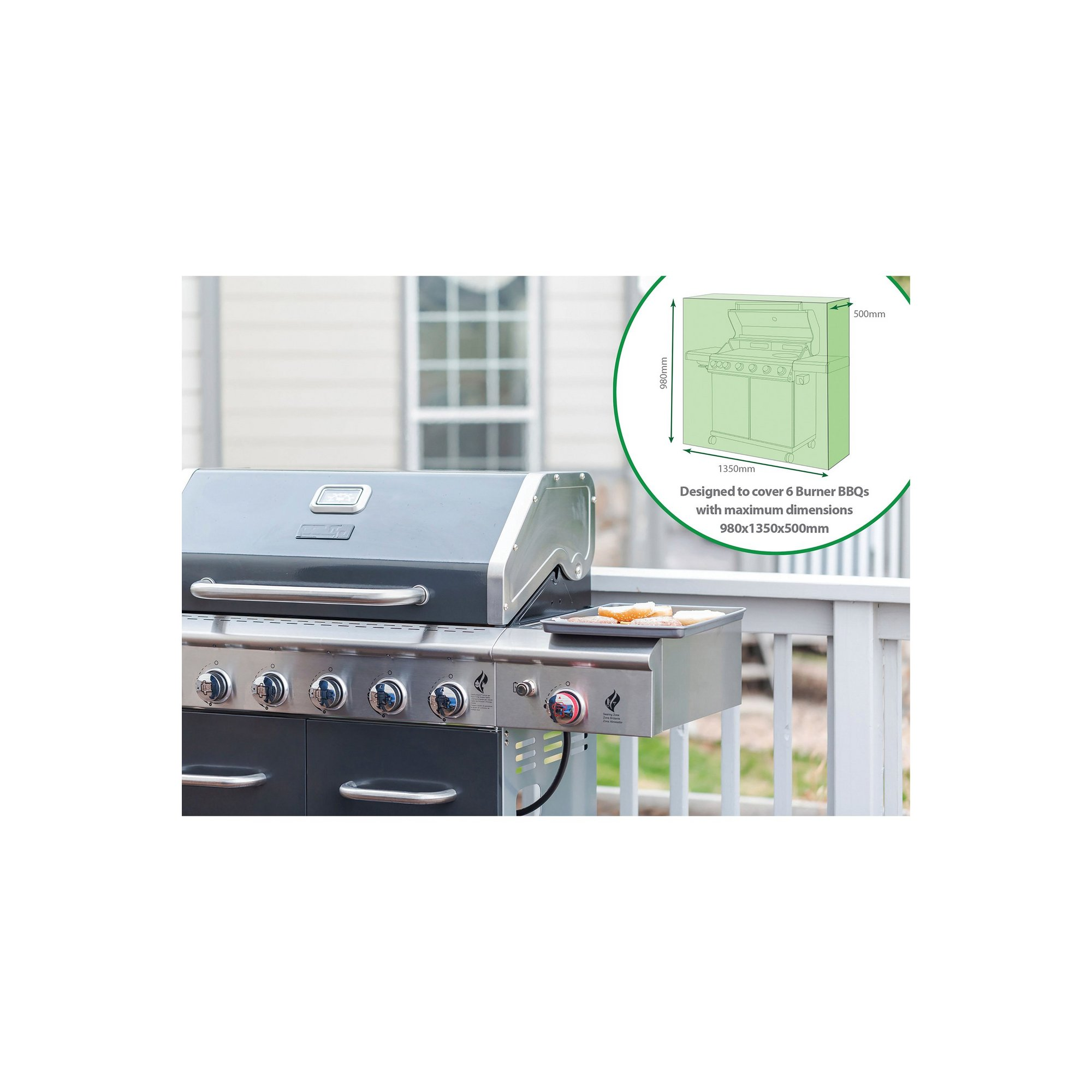 Image of 6 Burner BBQ Cover