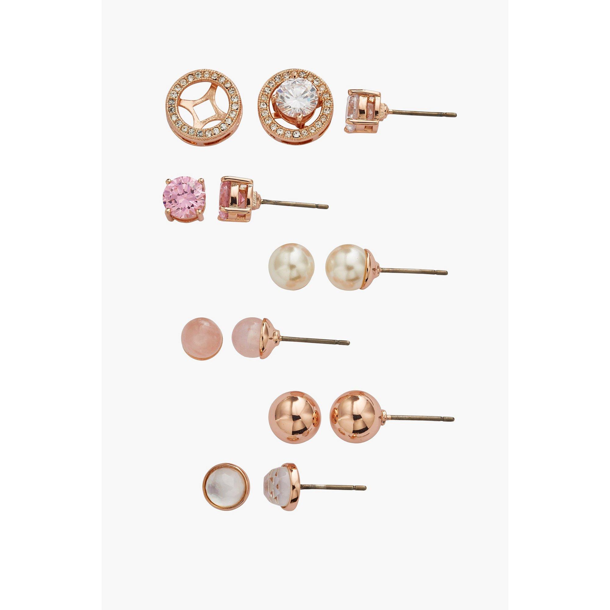 Image of Buckley London Rose Gold Interchangeable Earring Set