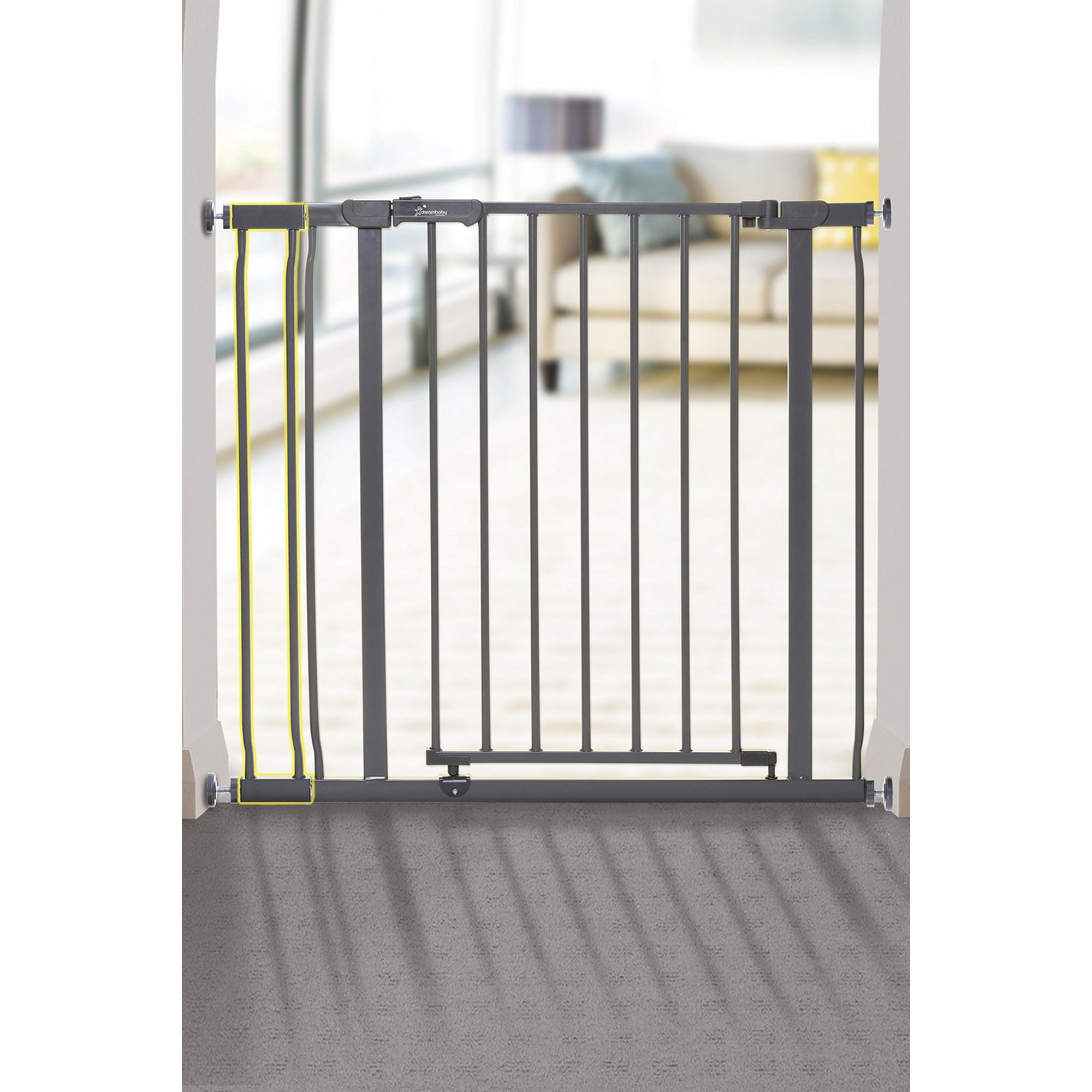 Image of Ava 9cm Charcoal Gate Extension