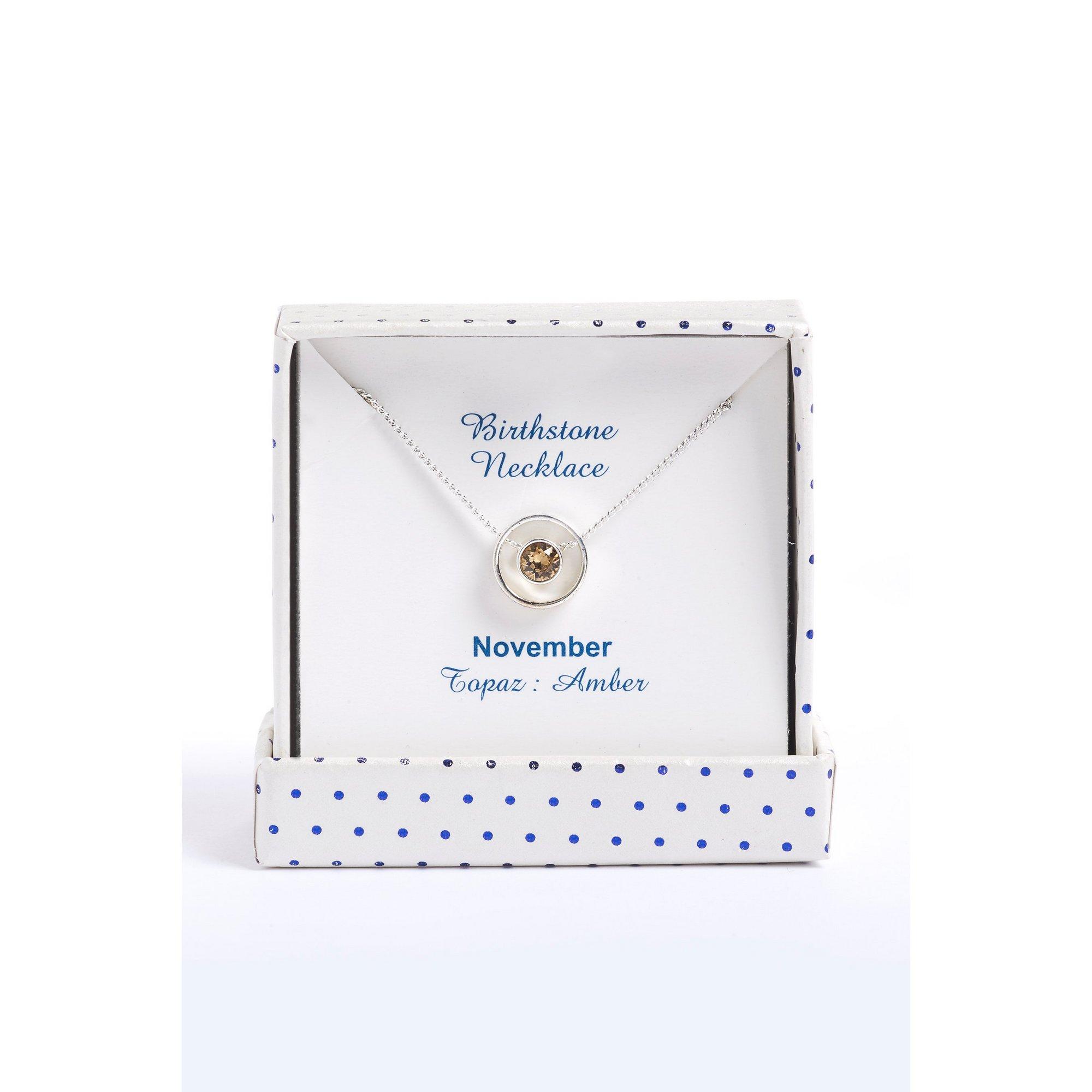 Image of Equilibrium Swarovski November Birthstone Necklace November